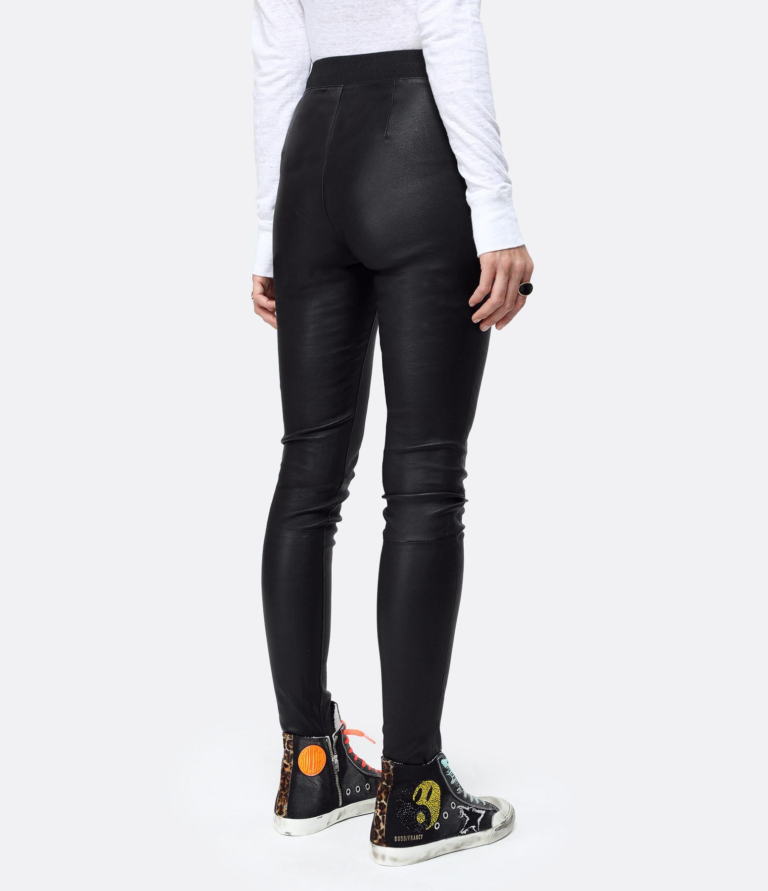 MUUBAA - Legging STR Cuir Noir