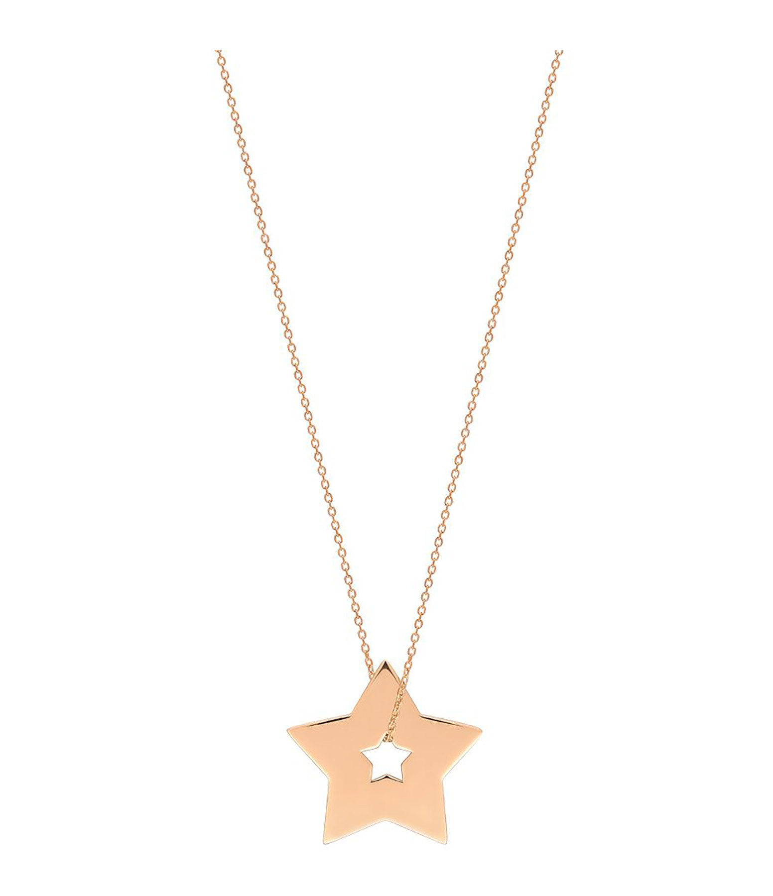 GINETTE_NY - Collier Milky Way Etoile Or Rose
