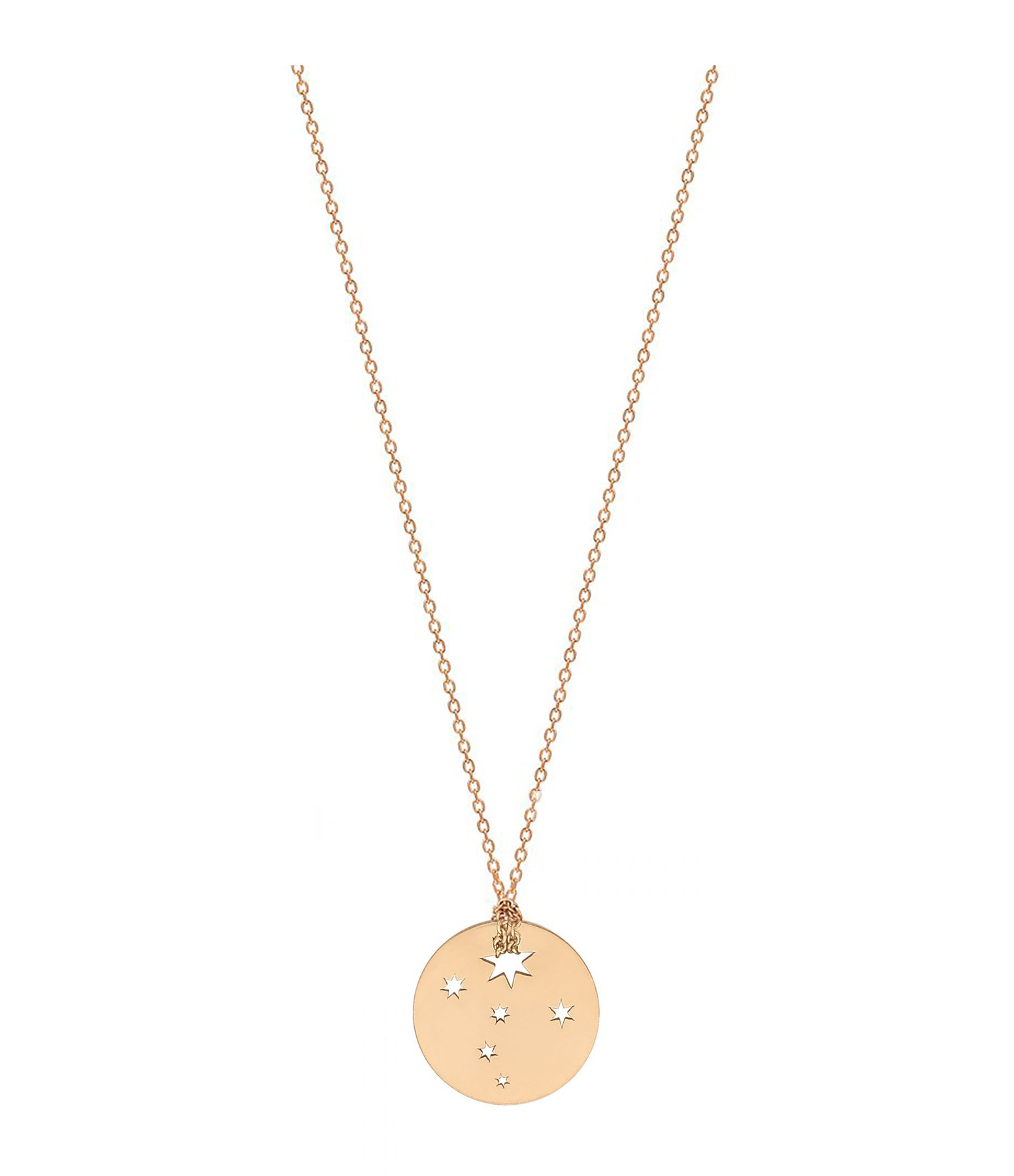 Collier Milky Way Mini Disc Or Rose - Ginette_ny