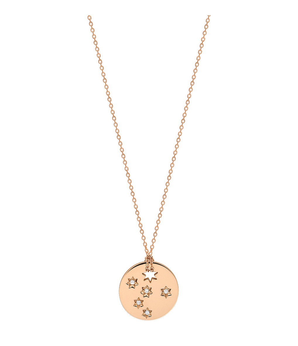 GINETTE_NY - Collier Milky Way Mini Disc Or Rose DIAMANTs