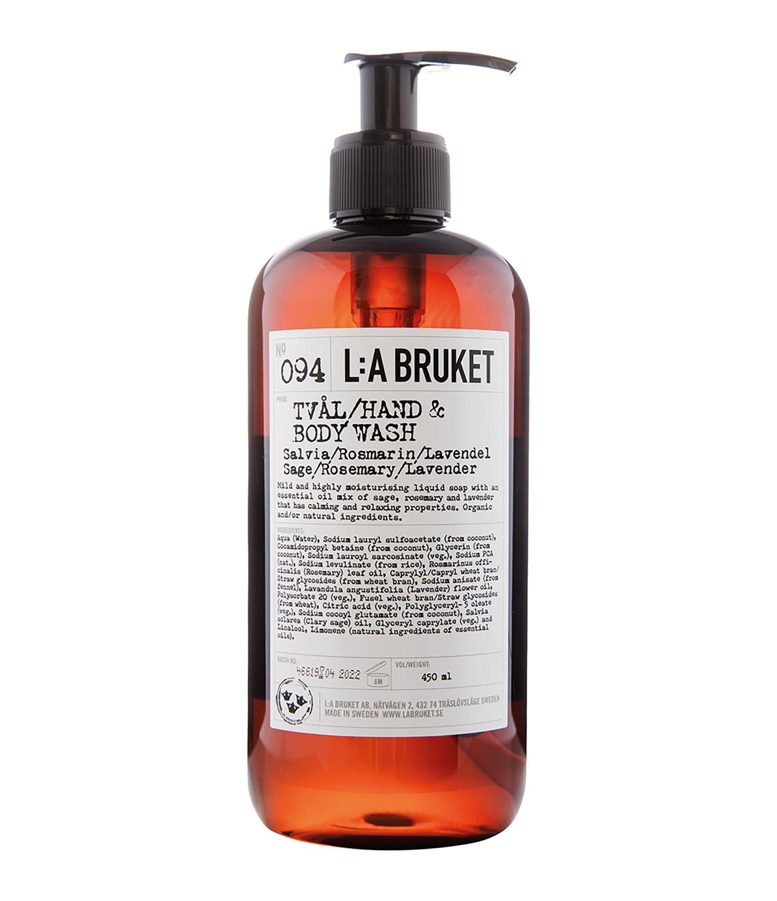 L:A BRUKET - Savon Liquide Sauge Romarin Lavande 450ml N°094