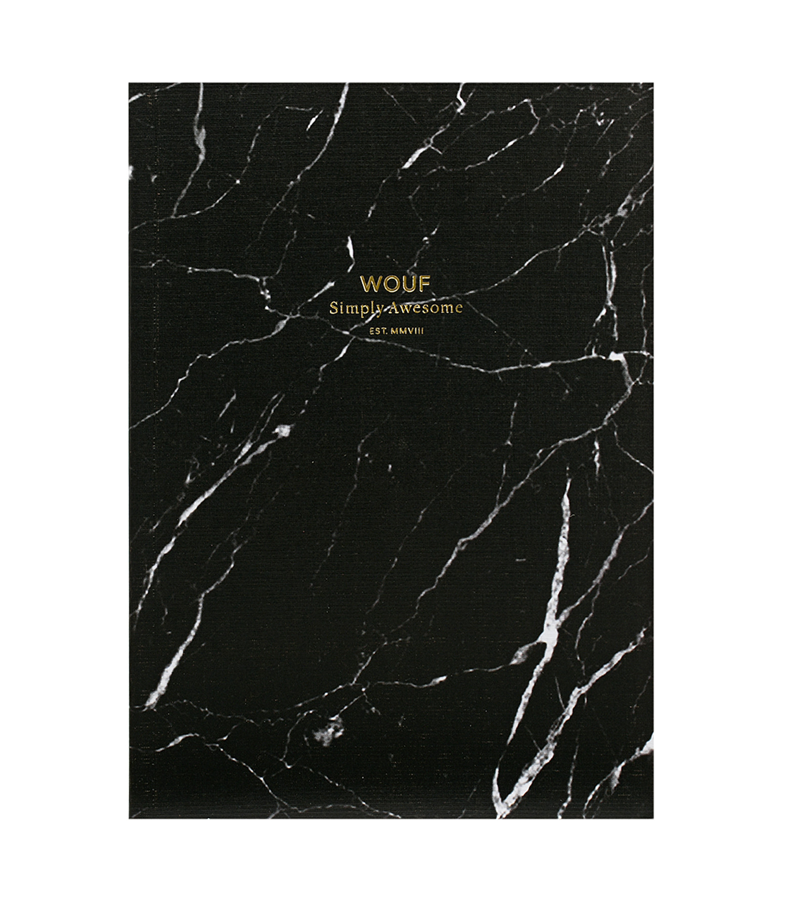 WOUF - Carnet A5 Black Marble