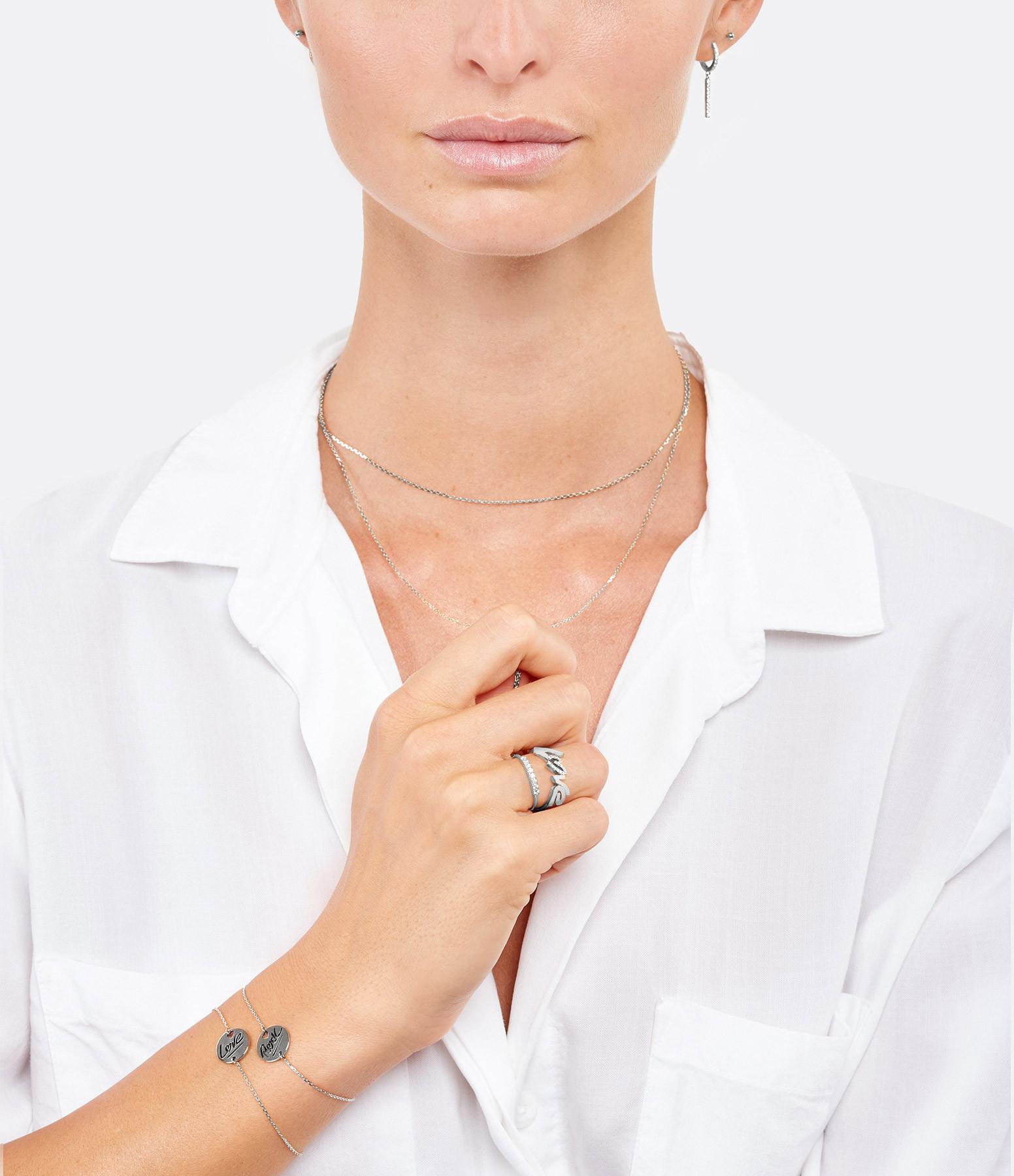 NAVA JOAILLERIE - Bague Love Diamant Or Blanc