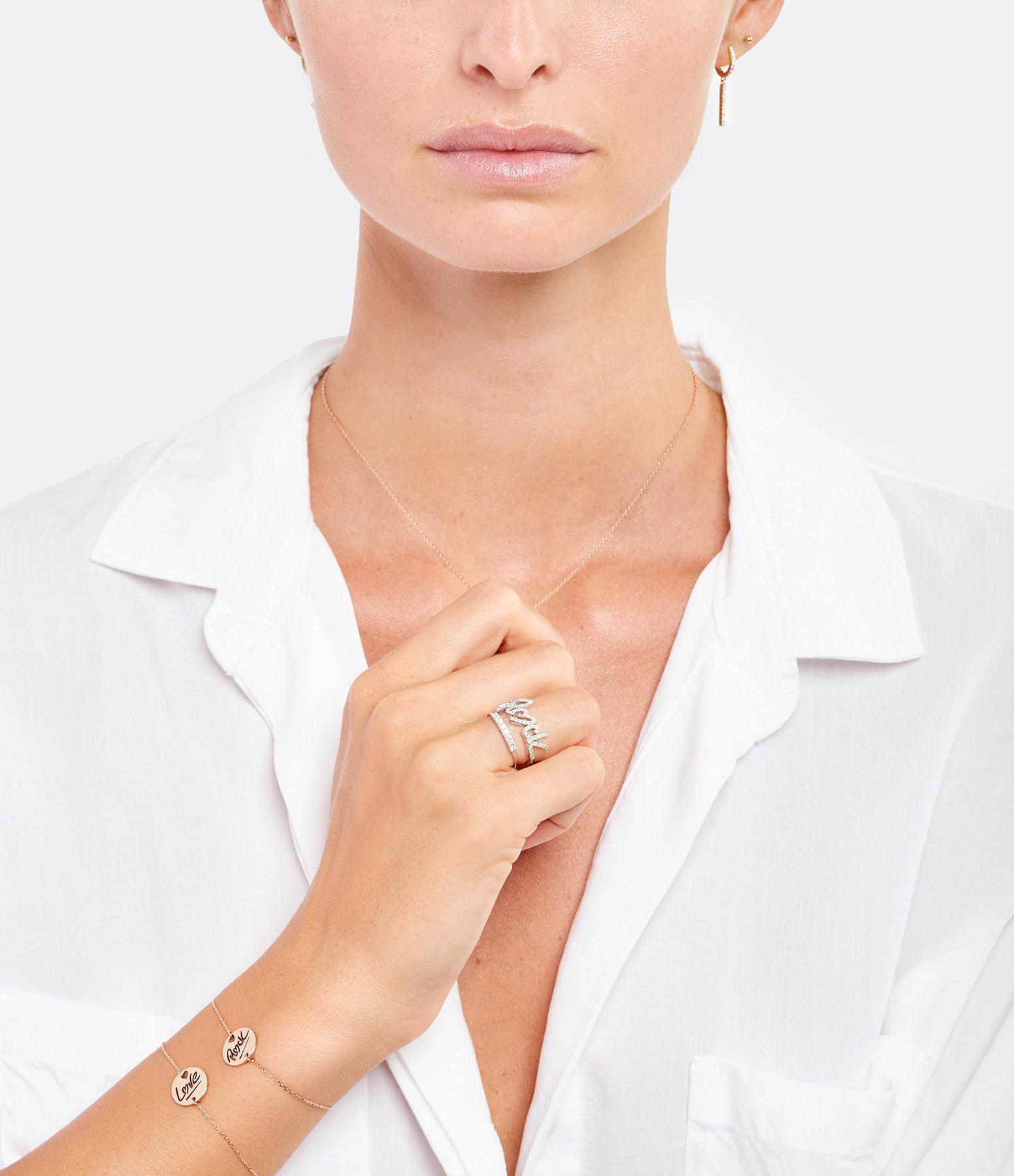 NAVA JOAILLERIE - Bague Rock Diamants Or Blanc