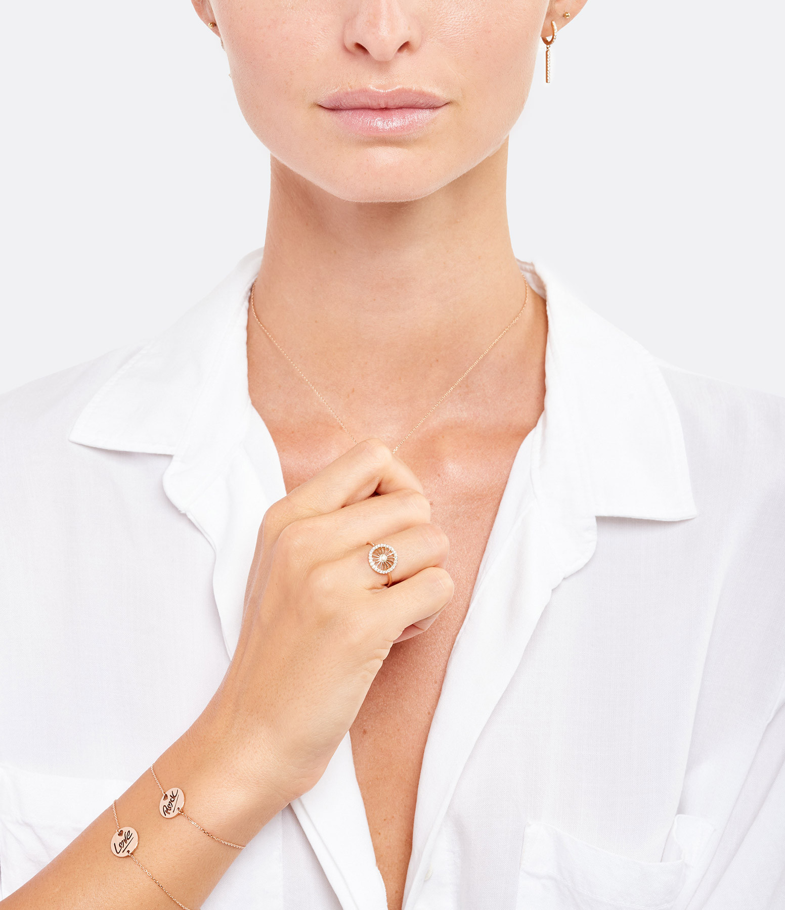 NAVA JOAILLERIE - Bracelet Love S Or Rose