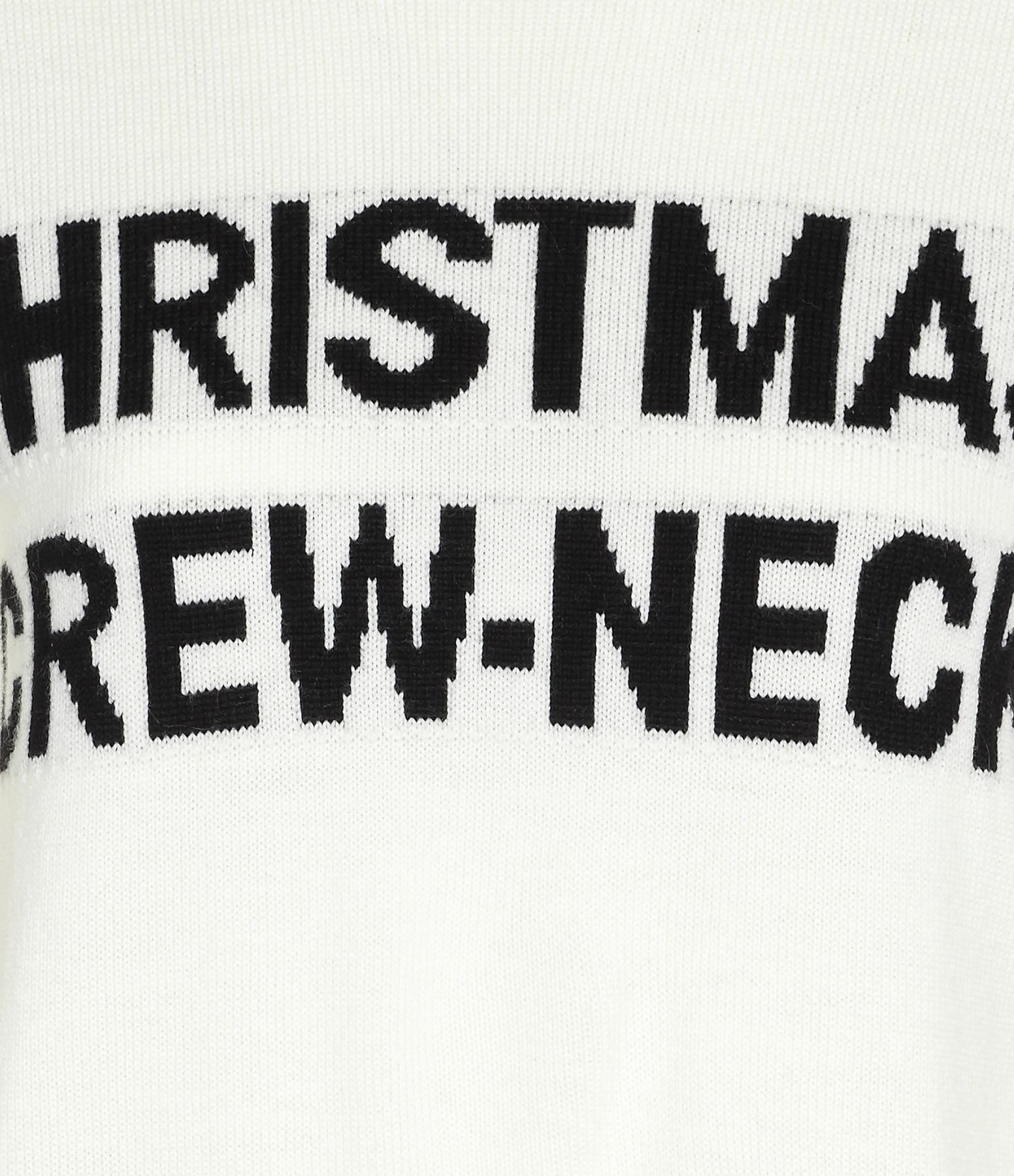 NERVURE - Pull Christmas Crème Noir