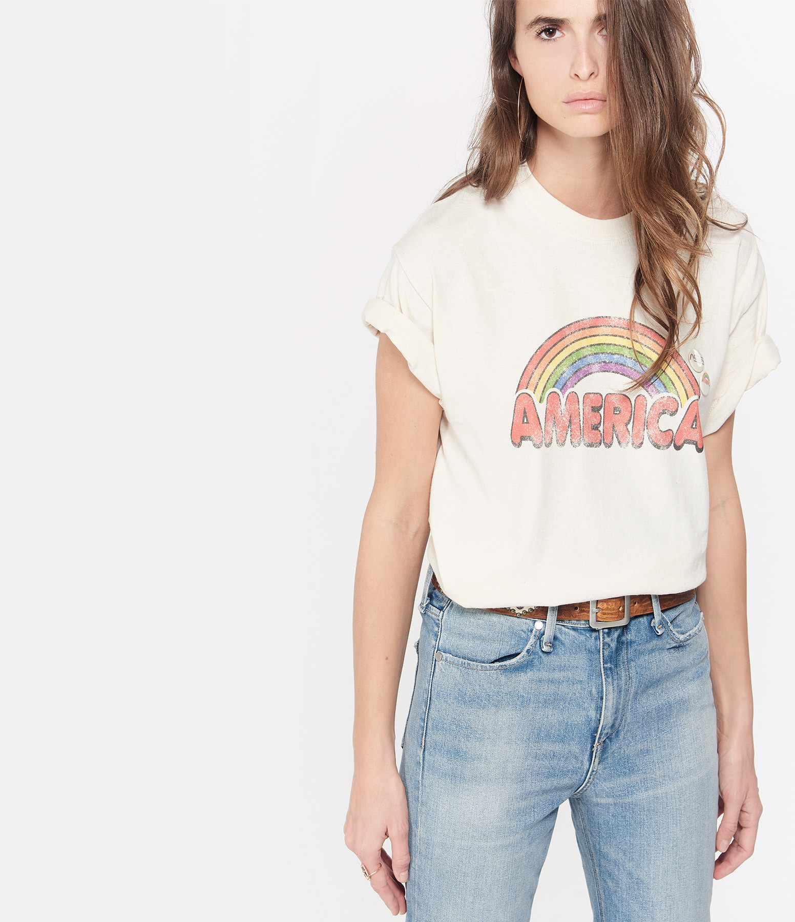 NEWTONE - Tee-shirt America Coton Naturel