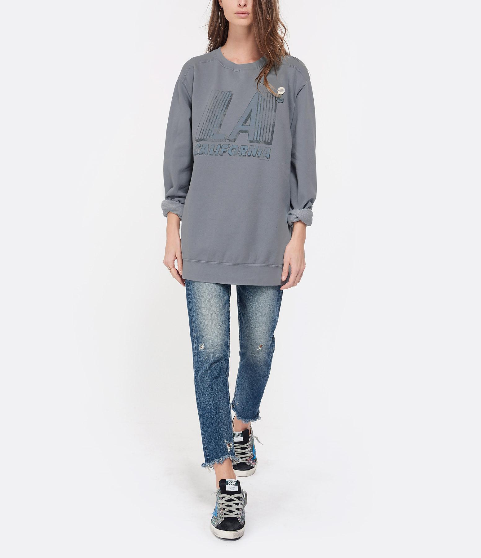 NEWTONE - Sweatshirt L.A Coton Gris