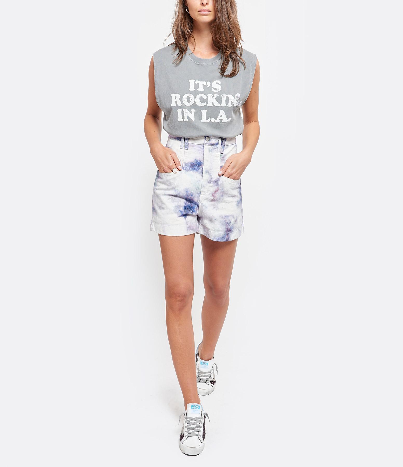 NEWTONE - Tee-shirt Rockin Coton Gris