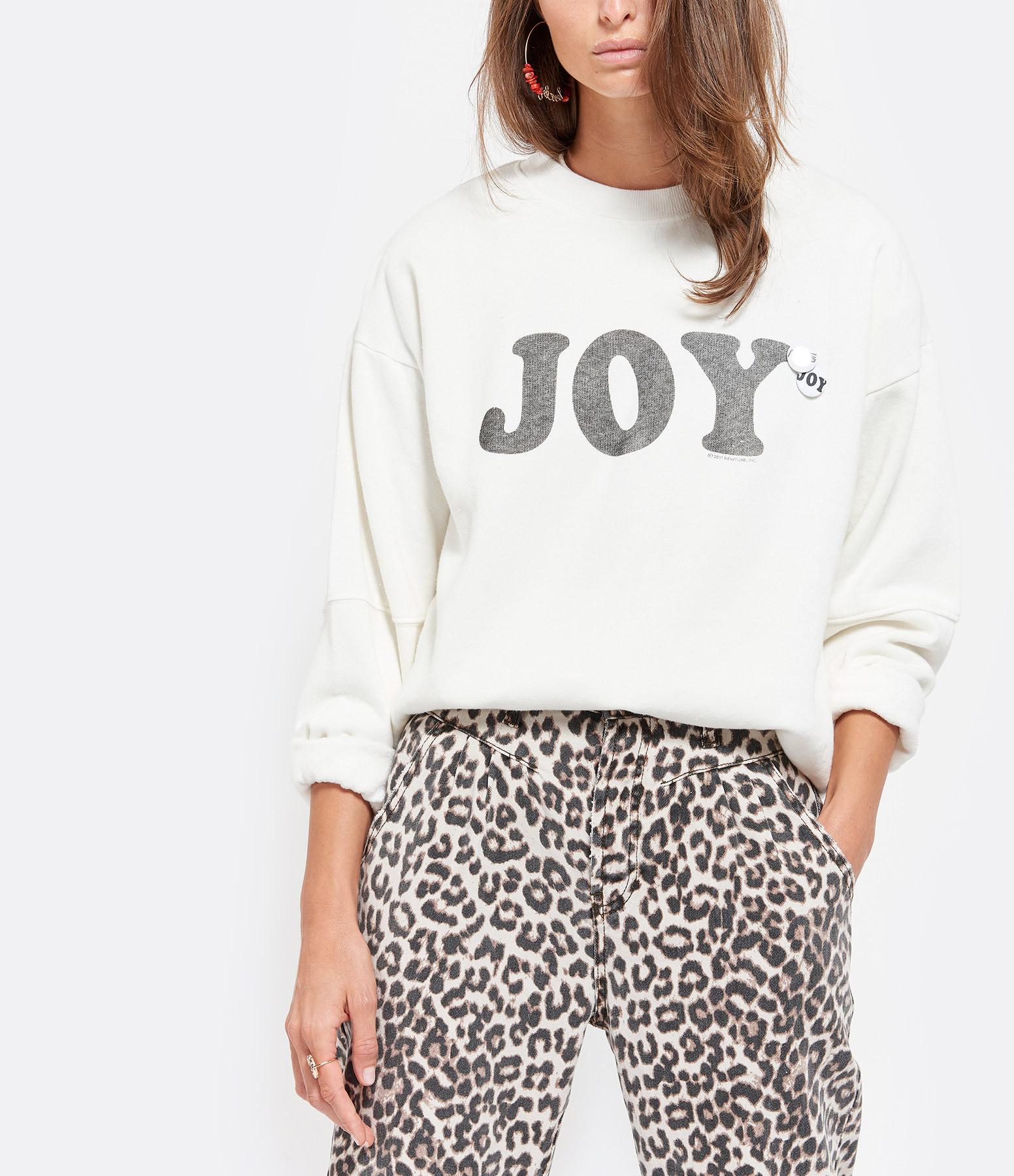 NEWTONE - Sweatshirt Daisy Joy Coton Ecru