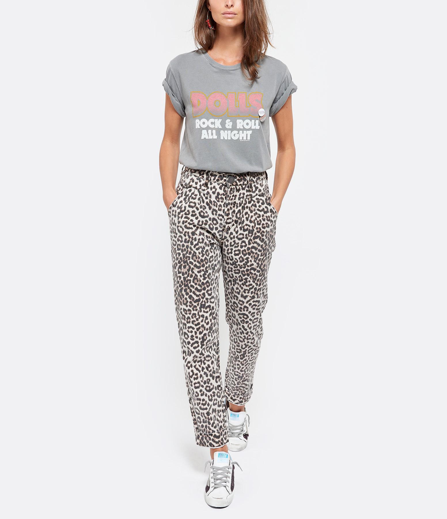 NEWTONE - Tee-shirt Dolls Coton Gris