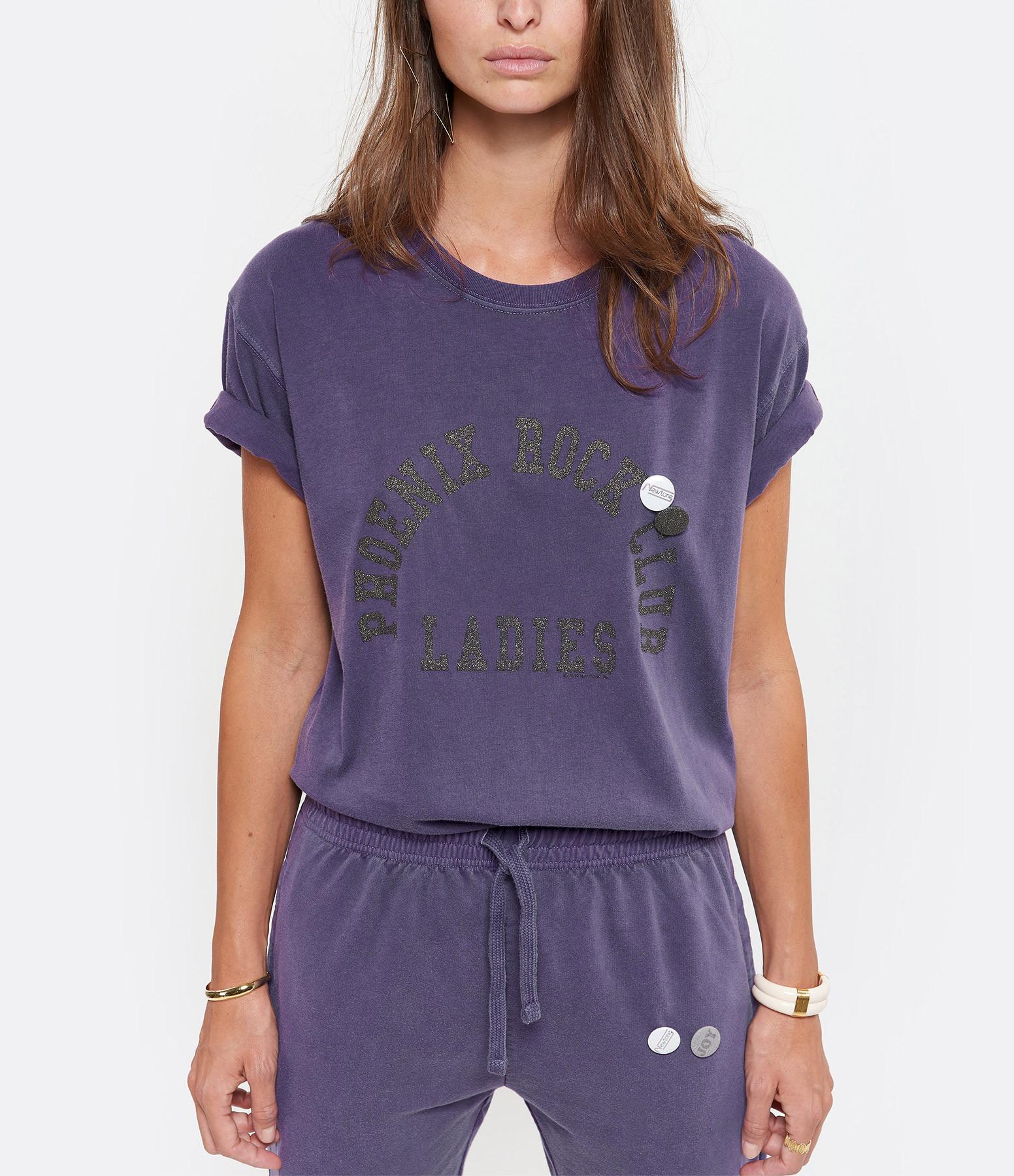 NEWTONE - Tee-shirt Phoenix Coton Violet Grappe