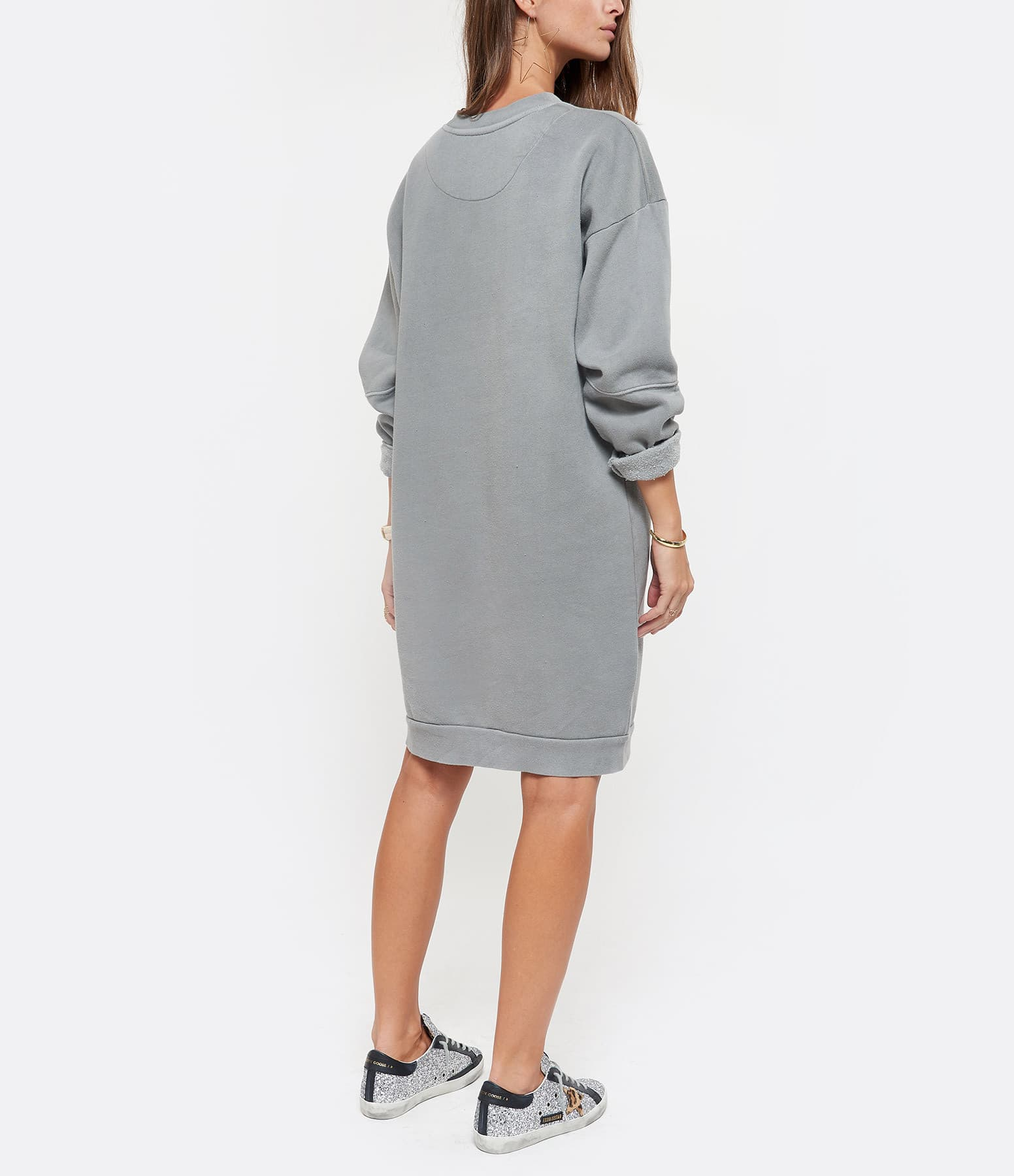 NEWTONE - Robe Wings Coton Gris