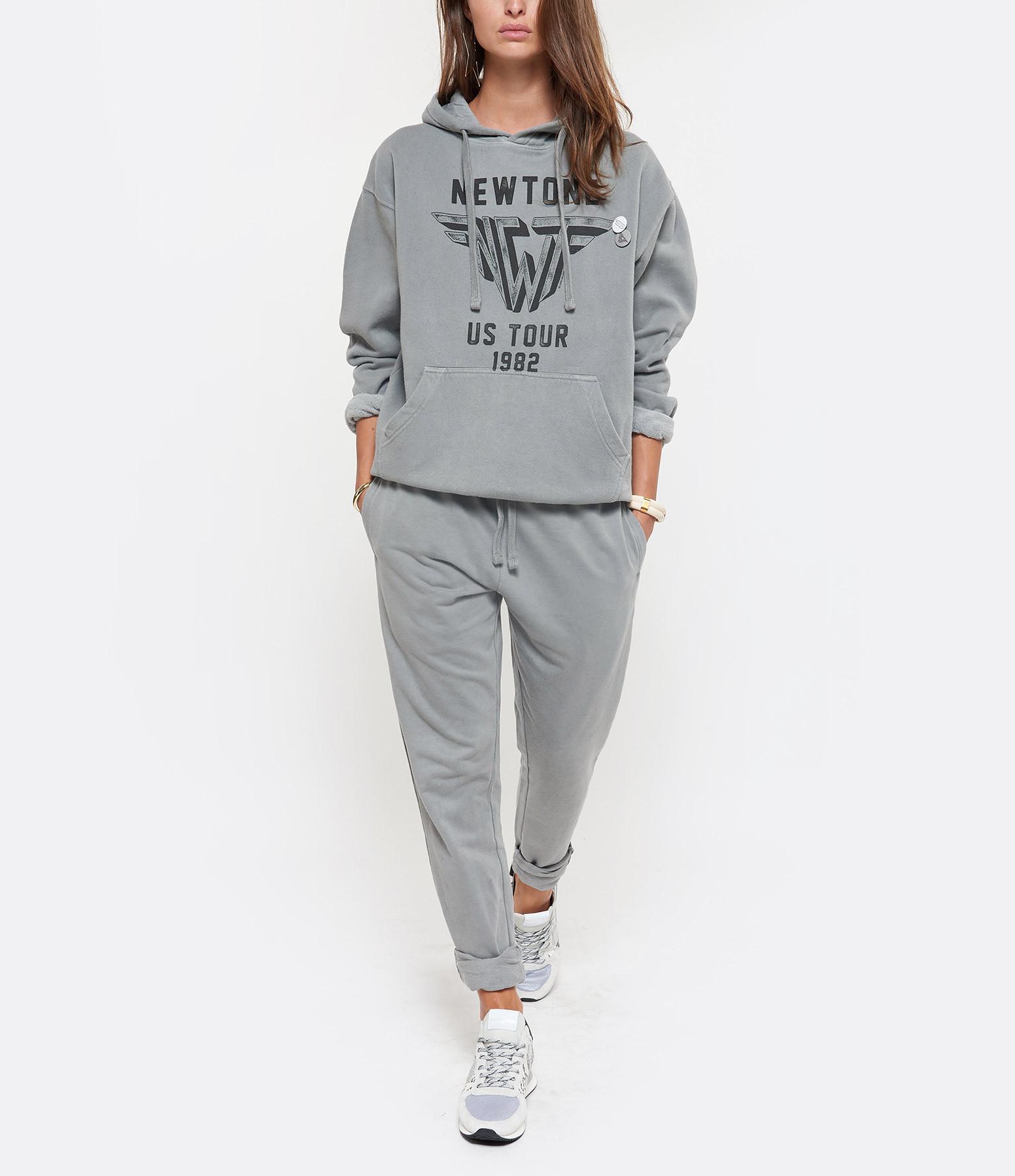 NEWTONE - Sweatshirt Hoody Wings Coton Gris