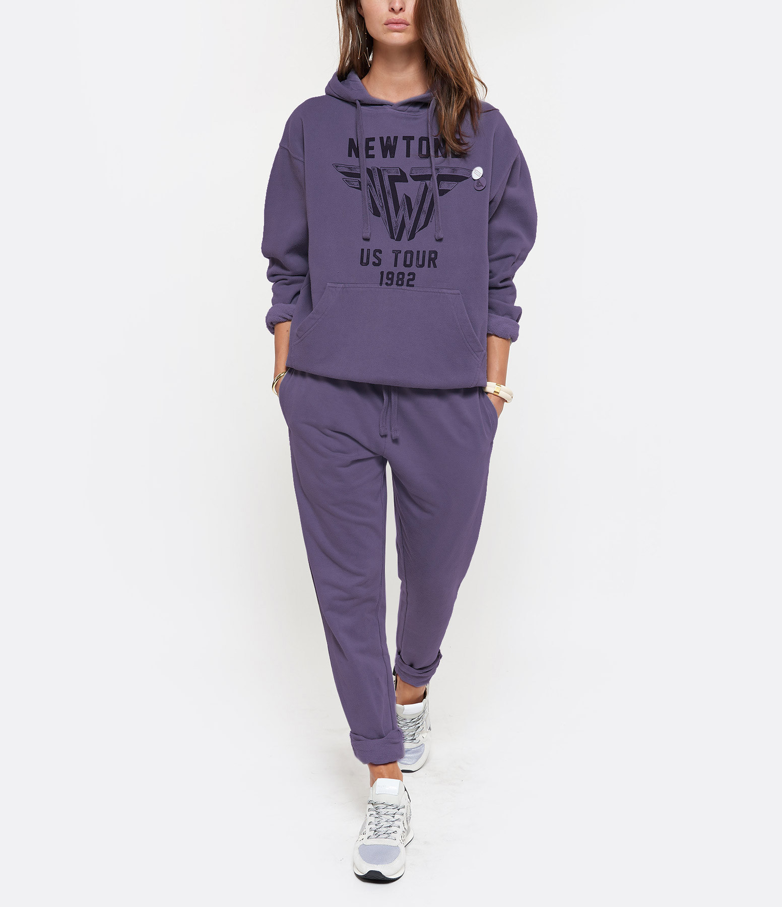 NEWTONE - Sweatshirt Wings Coton Grape