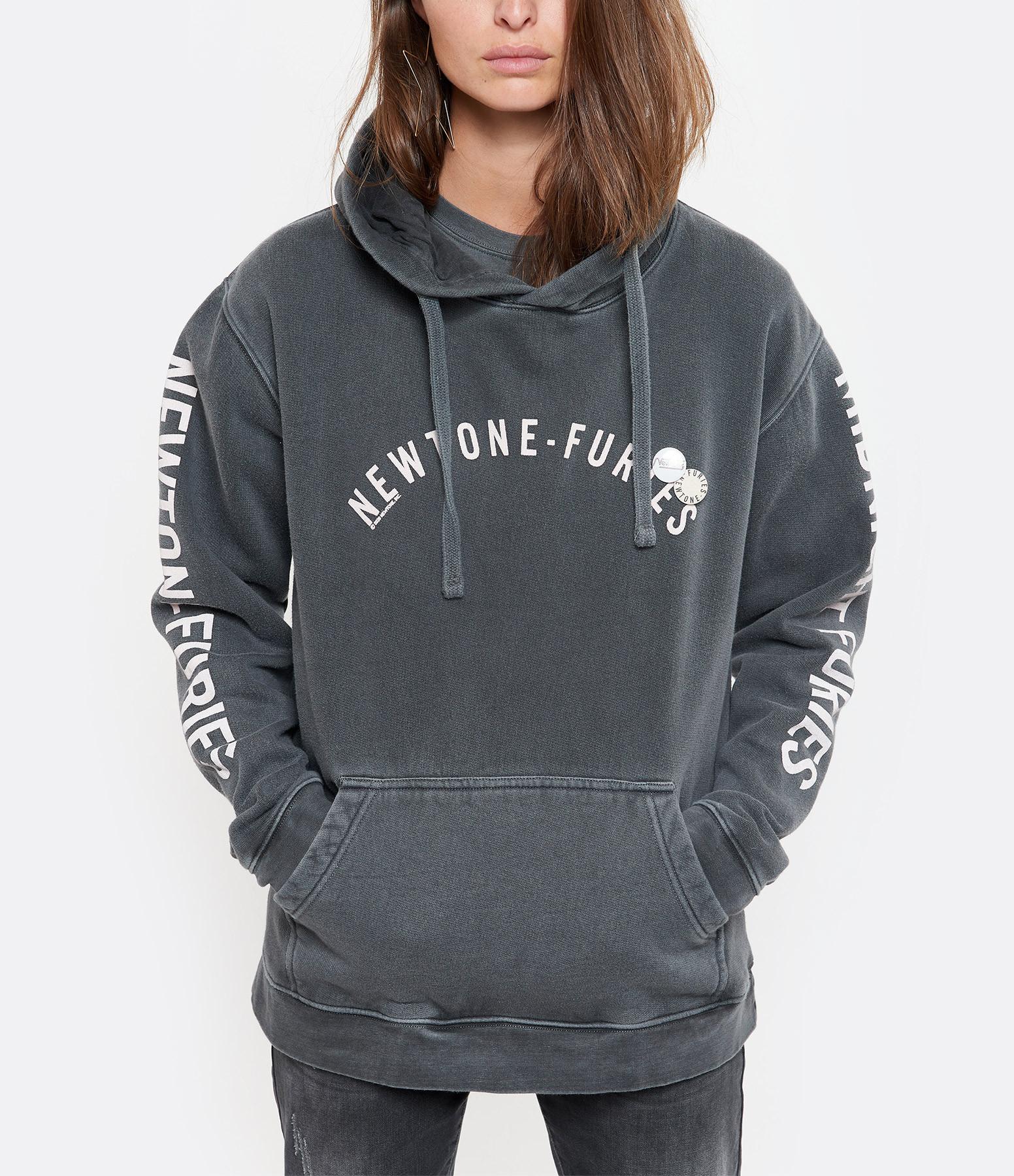 NEWTONE - Sweatshirt Hoody Furies Coton Pepper