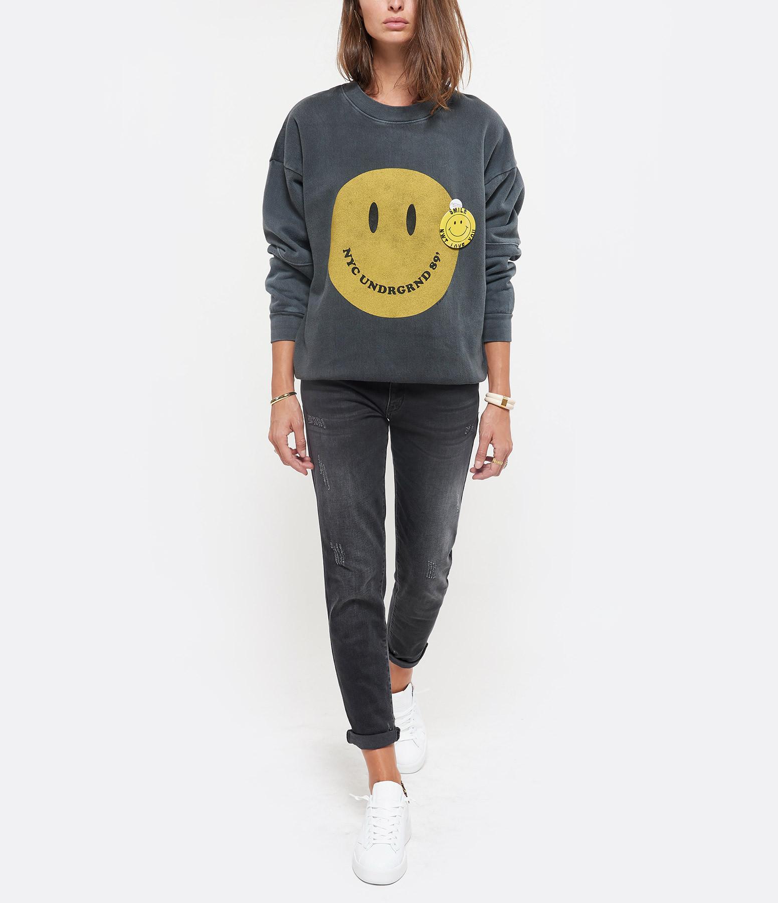 NEWTONE - Sweatshirt Roller Smiley Coton Pepper