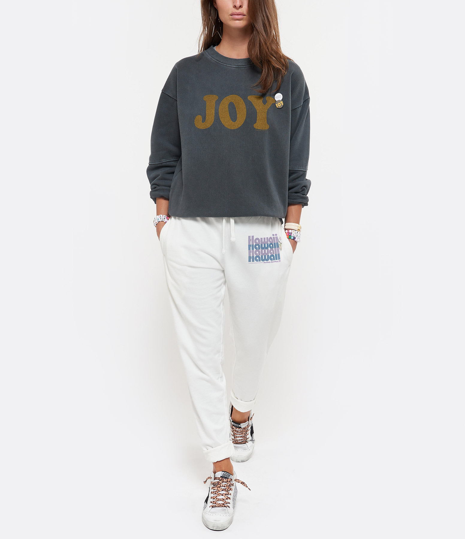 NEWTONE - Sweatshirt Roller Joy Coton Pepper