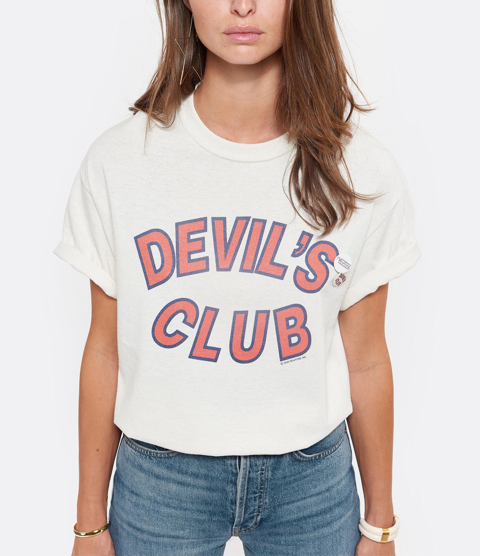NEWTONE - Tee-shirt Devil Coton Naturel