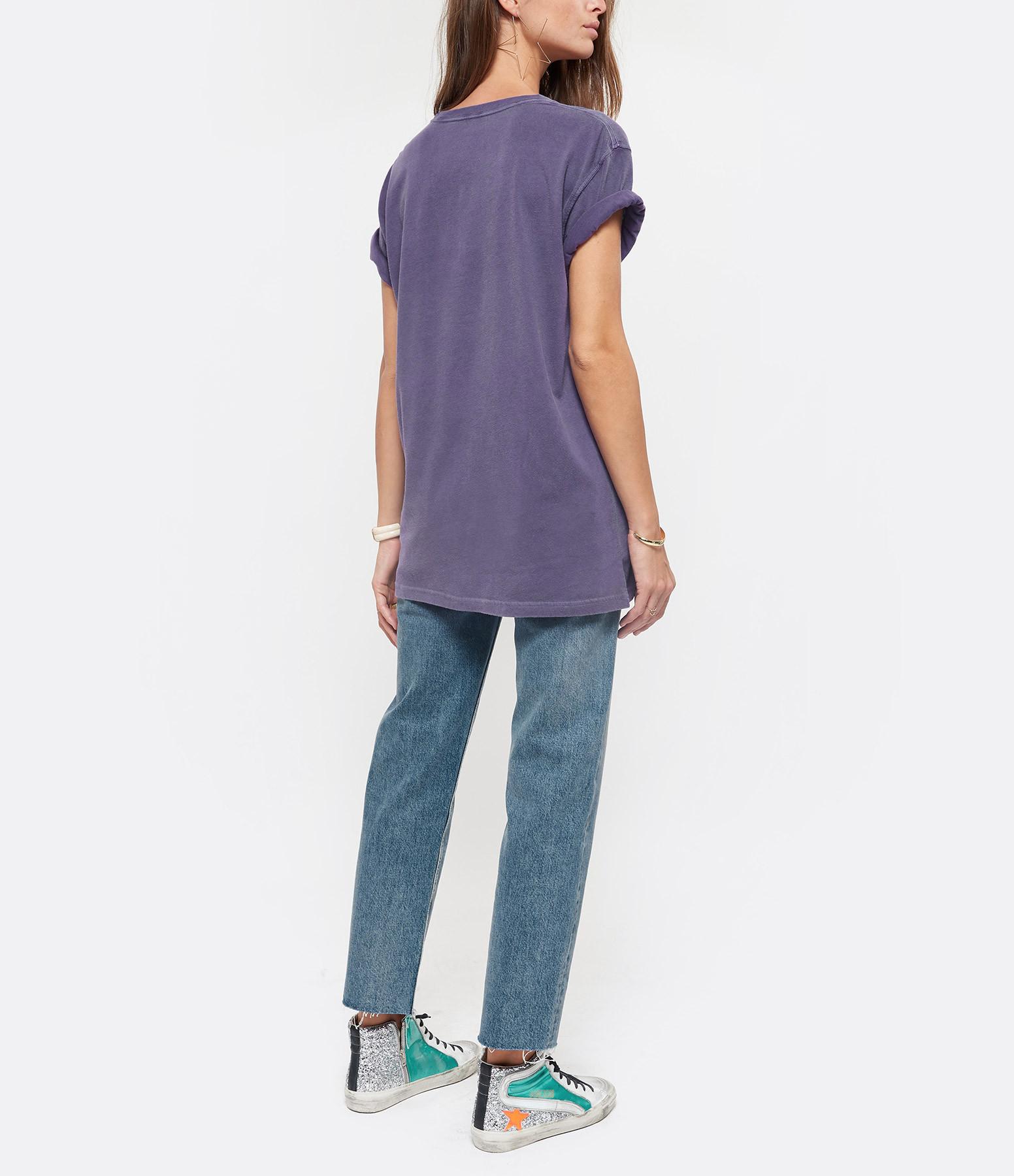 NEWTONE - Tee-shirt Kiss Me Coton Violet Grappe