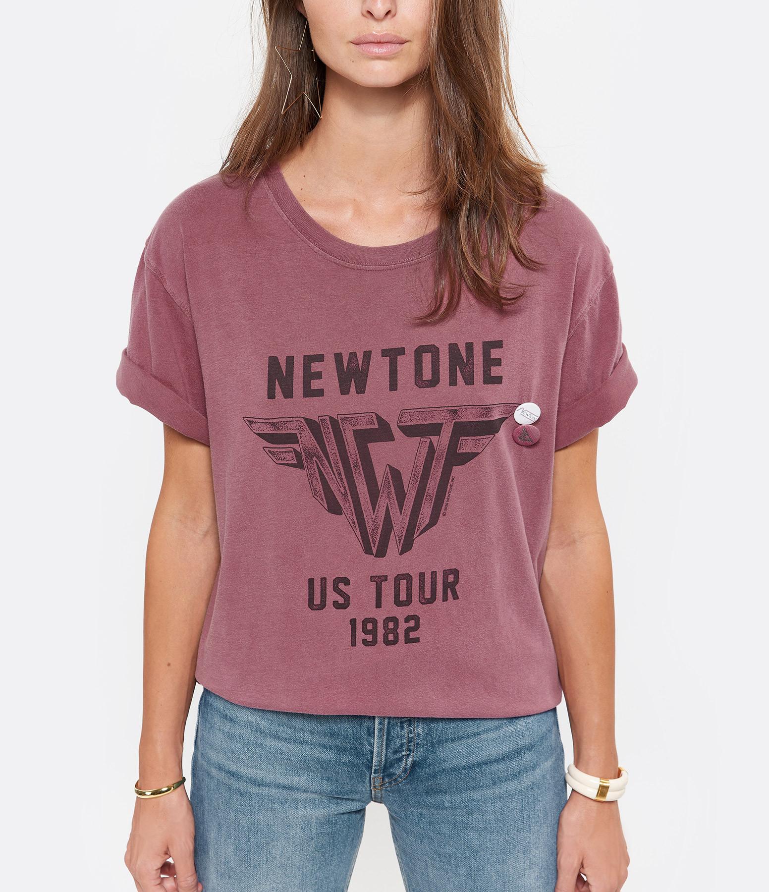 NEWTONE - Tee-shirt Wings Coton Brique