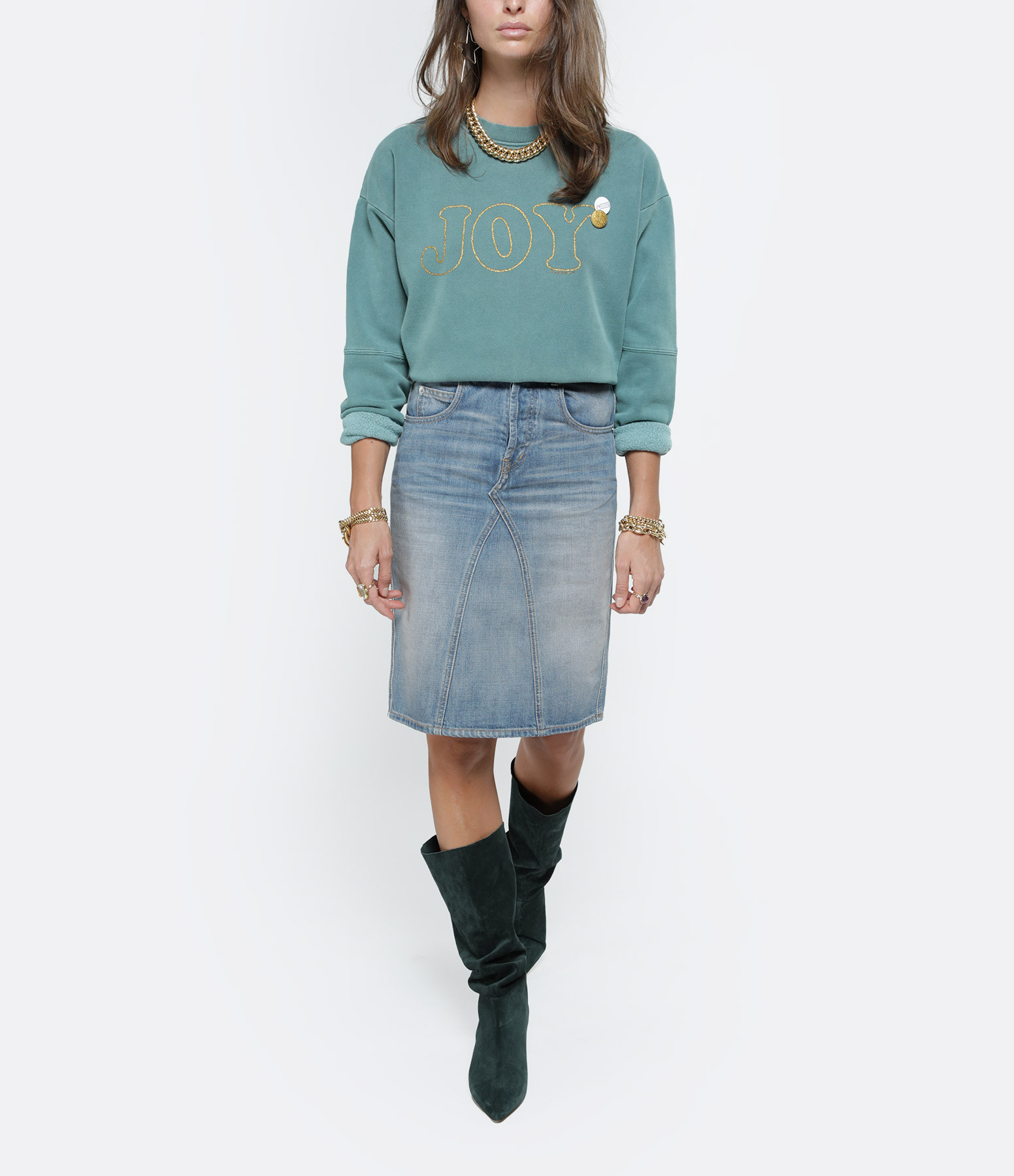 NEWTONE - Sweatshirt Joy Coton Forêt