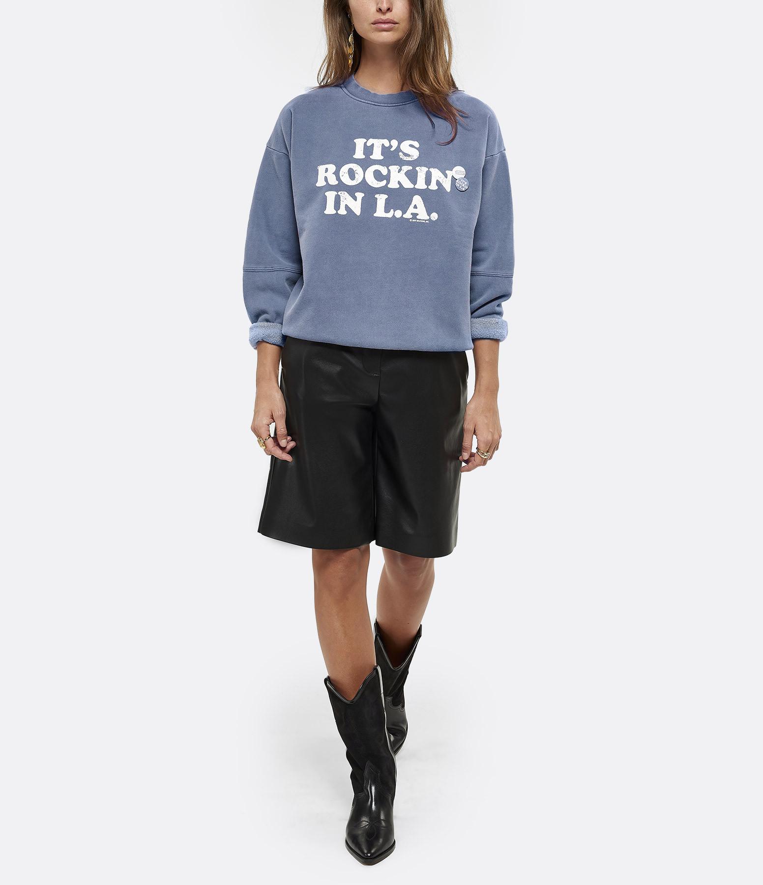 NEWTONE - Sweatshirt Rockin Coton Bleu Denim