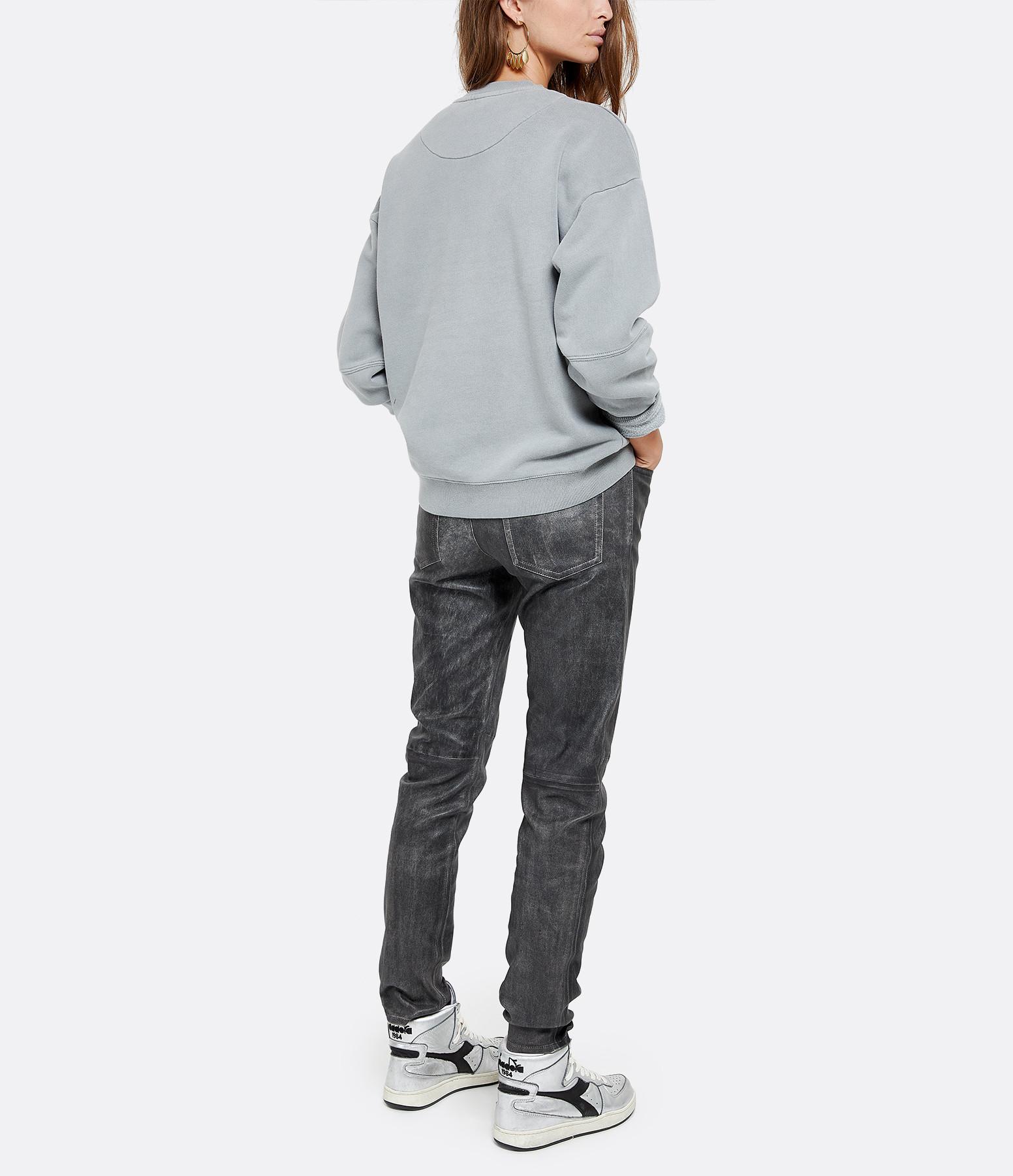 NEWTONE - Sweatshirt Roller Kiss Me Coton Gris