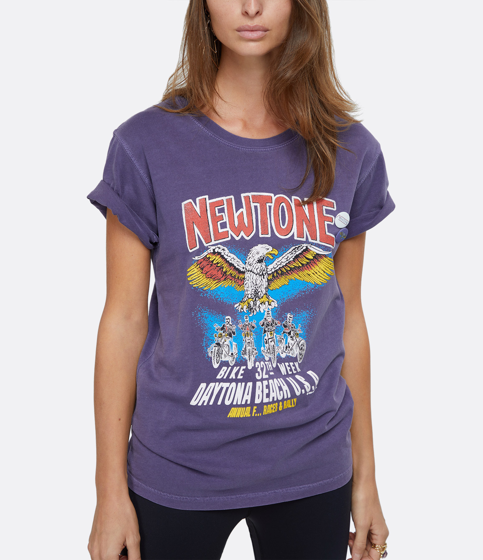 NEWTONE - Tee-shirt Convention Coton Violet Grappe
