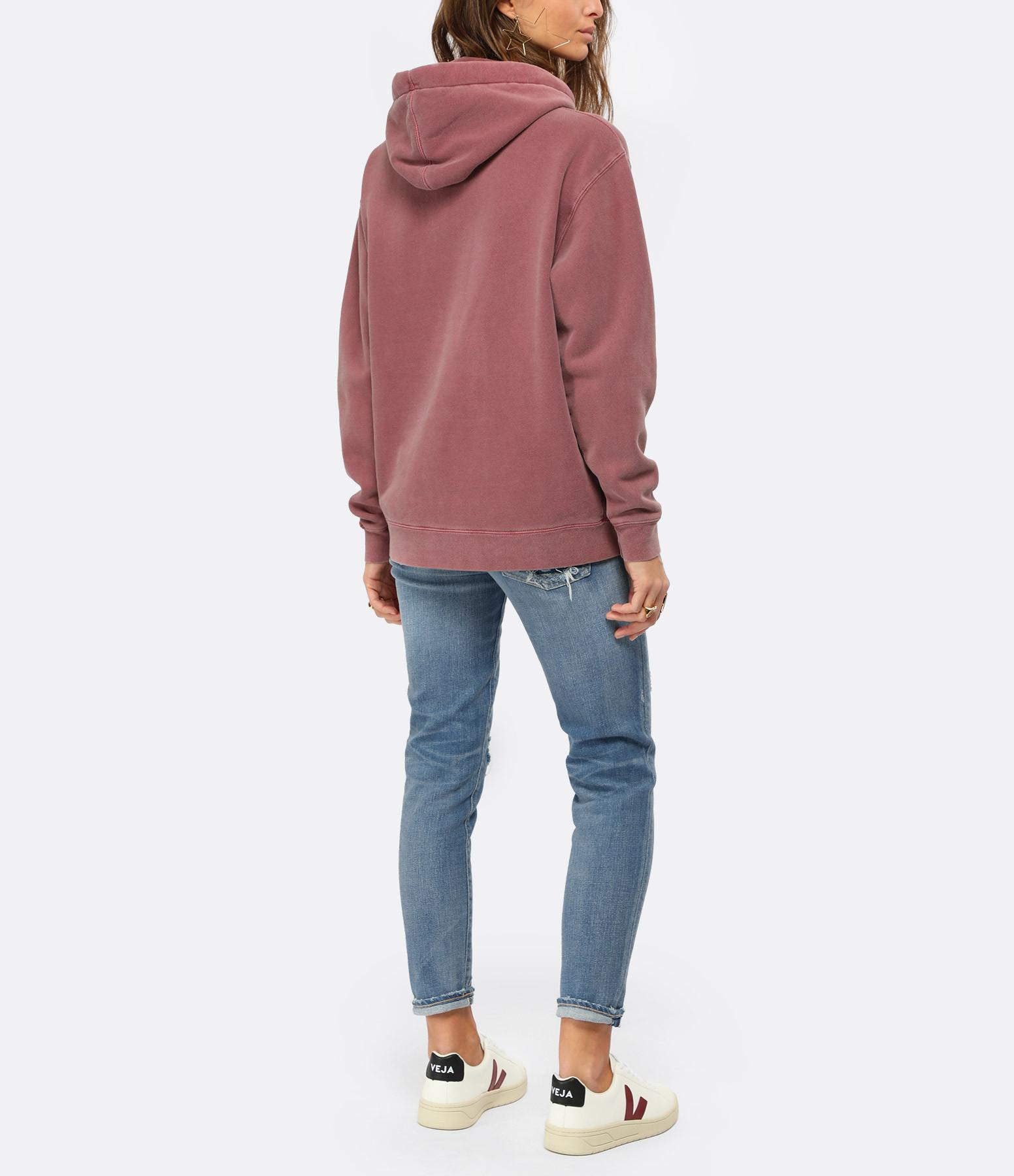 NEWTONE - Sweatshirt Hoody Phoenix Fit Jagger Coton Brique