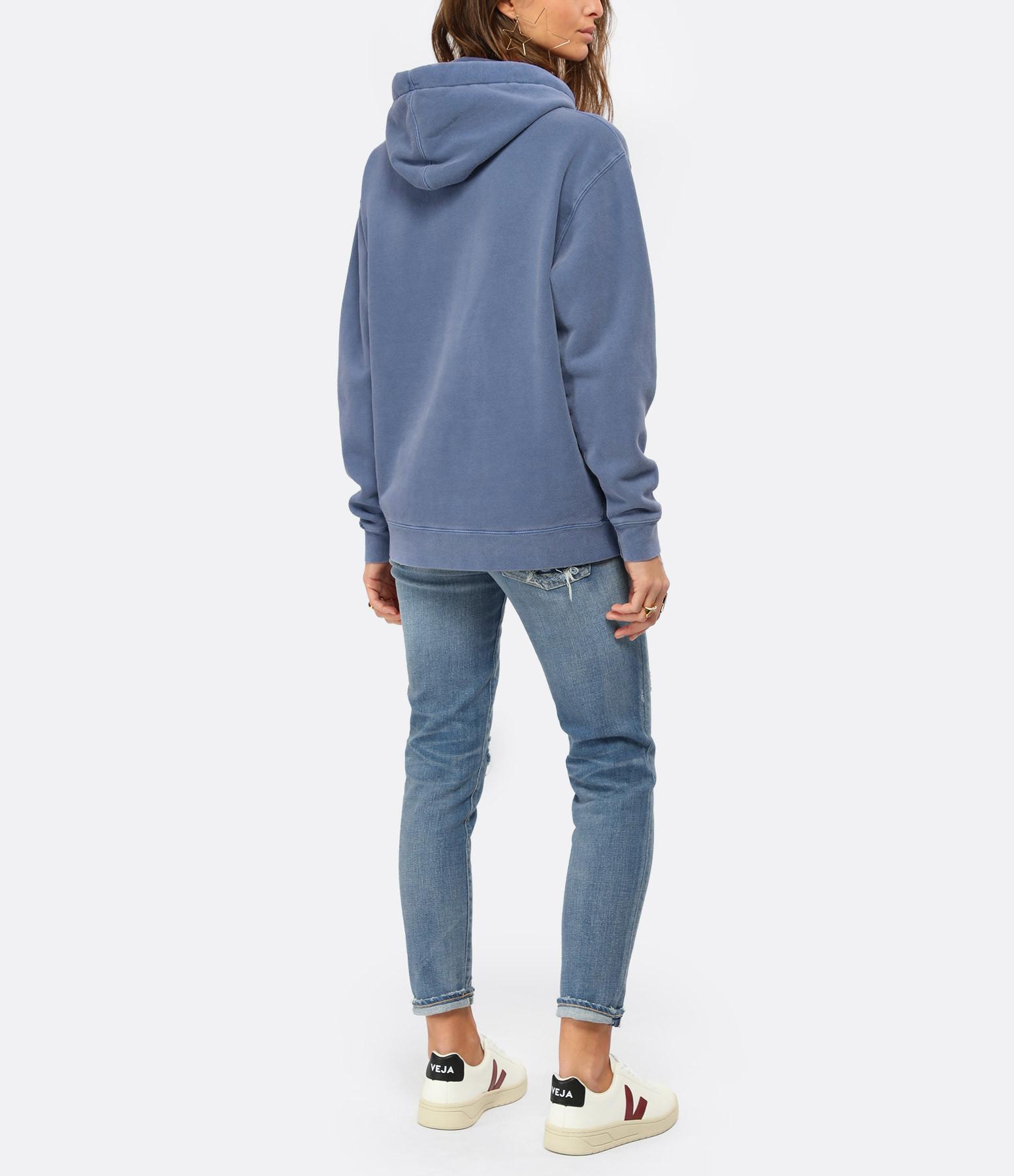 NEWTONE - Sweatshirt Phoenix Coton Bleu Denim