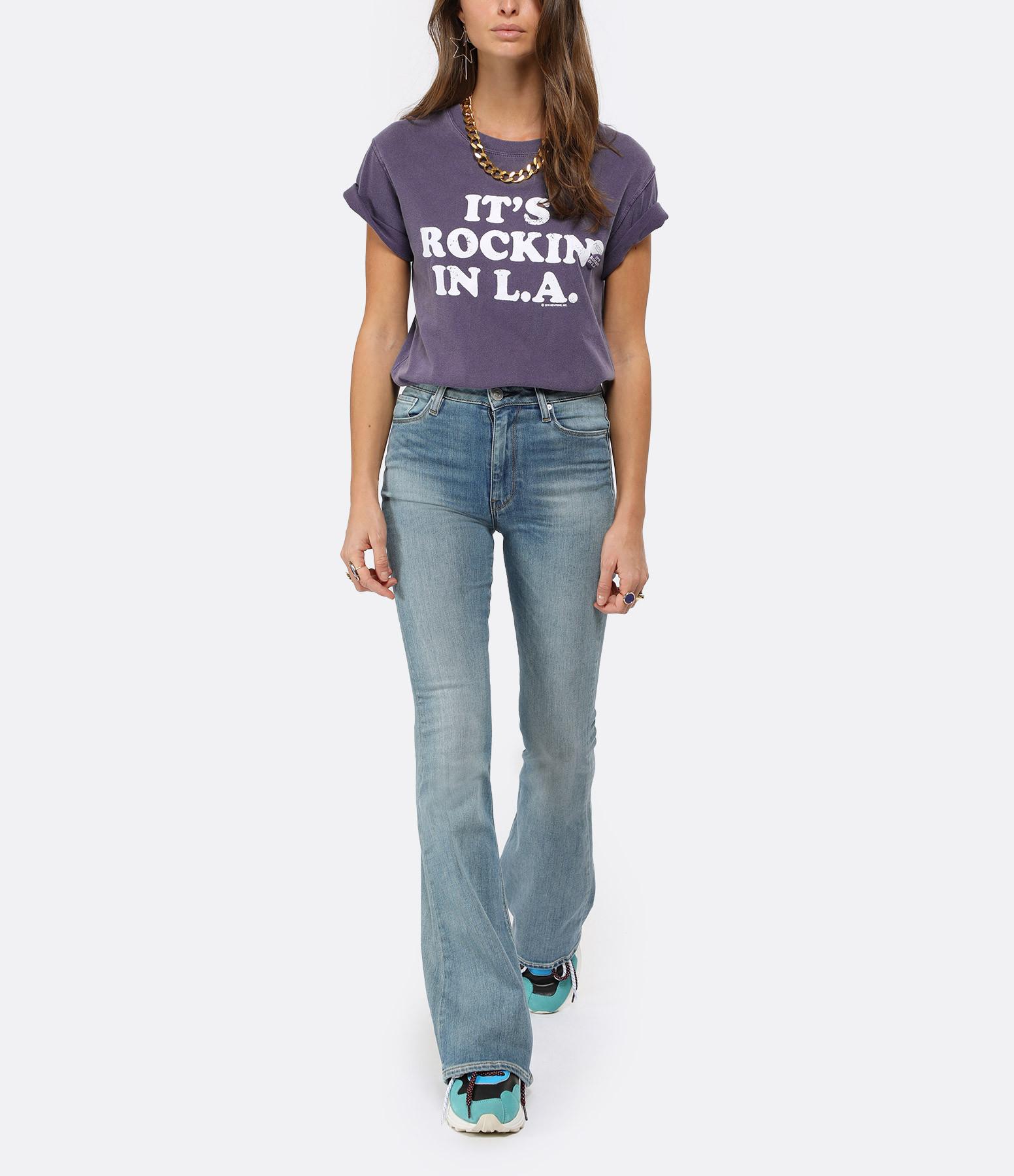 NEWTONE - Tee-shirt Rockin Coton Violet Grappe