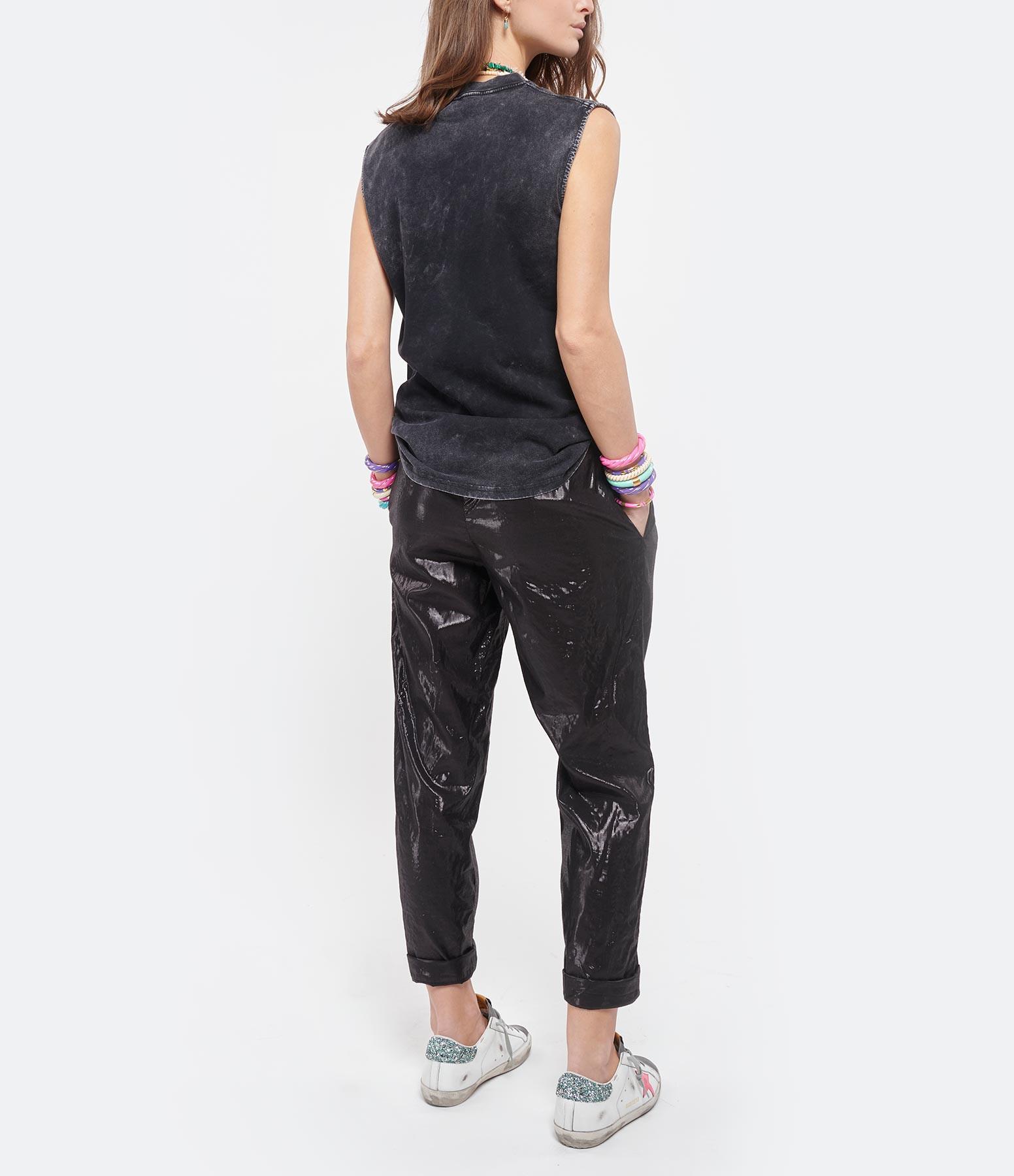 NEWTONE - Tee-shirt Biker Boulevard Coton Noir
