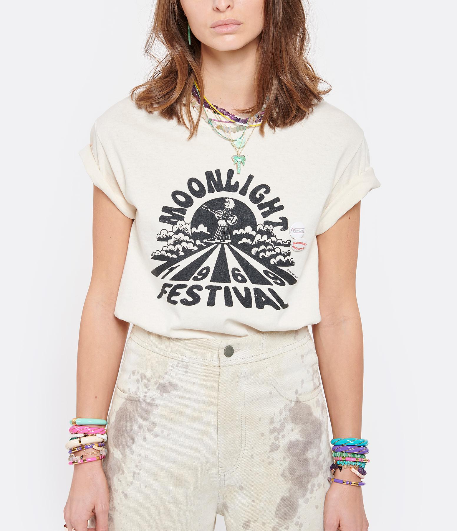 NEWTONE - Tee-shirt Trucker Moonlight Coton Naturel
