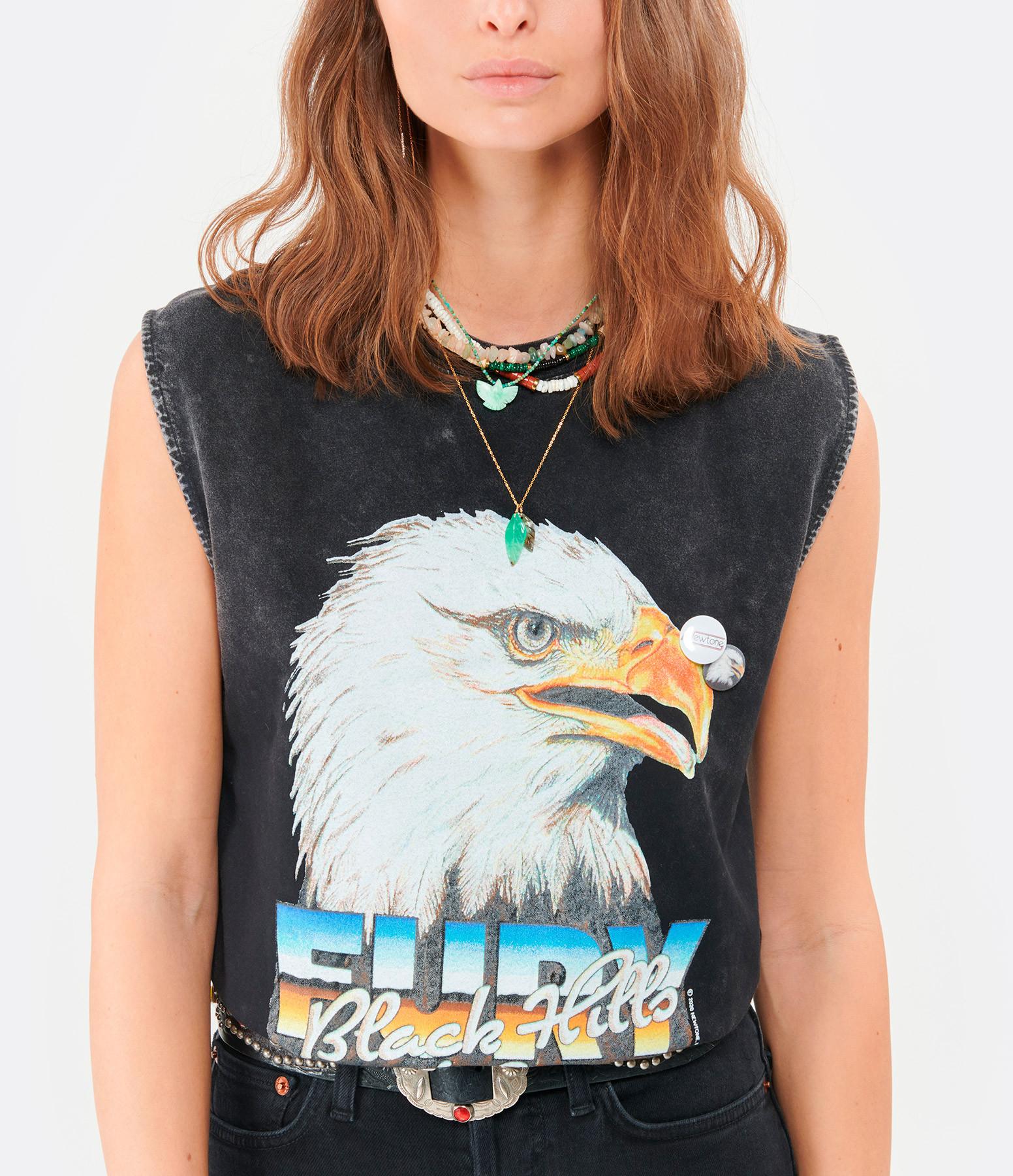 NEWTONE - Tee-shirt Biker Hills Coton Noir