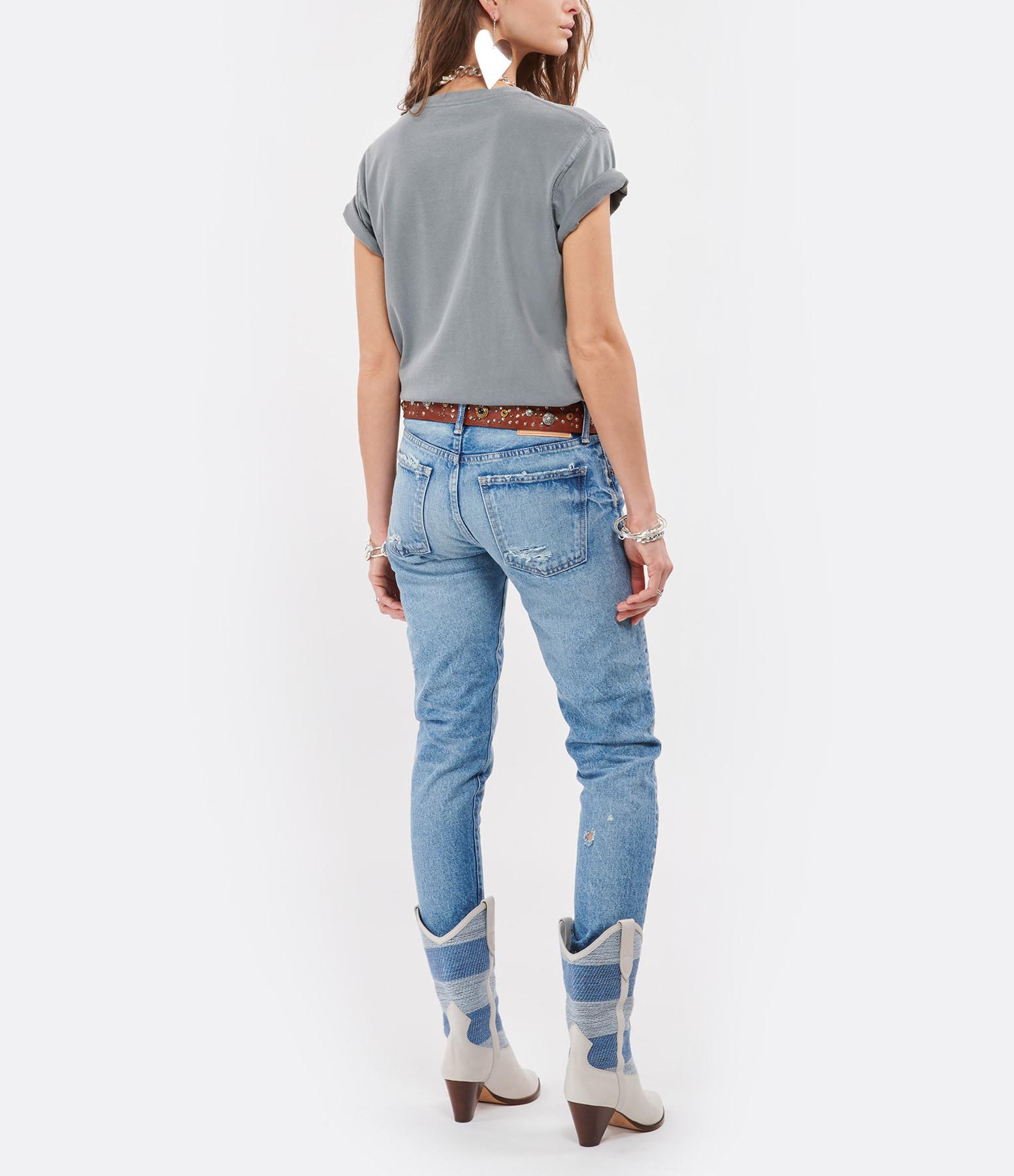 NEWTONE - Tee-shirt Trucker Joy Coton Gris