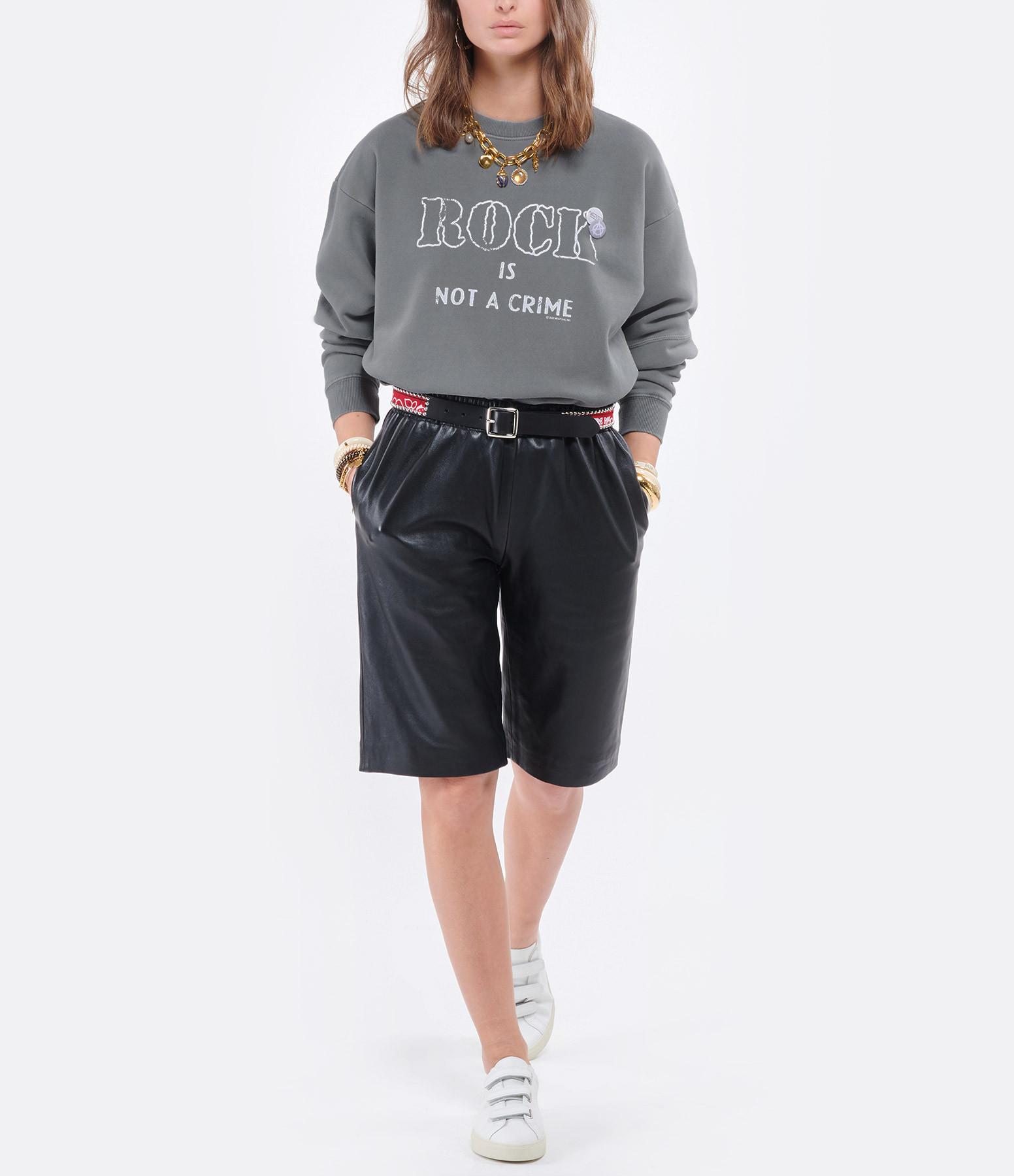 NEWTONE - Sweatshirt Roller Crime Coton Gris