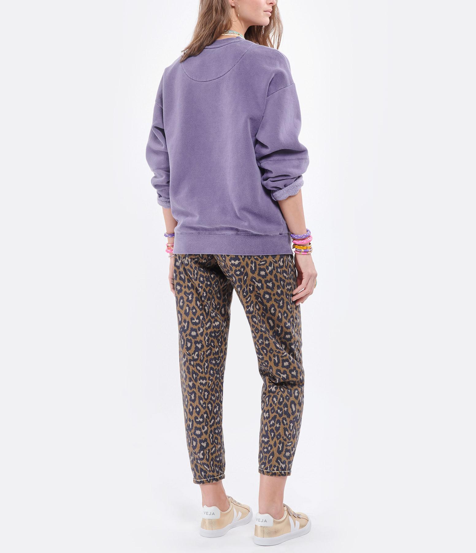 NEWTONE - Sweatshirt Roller Folk Coton Grappe