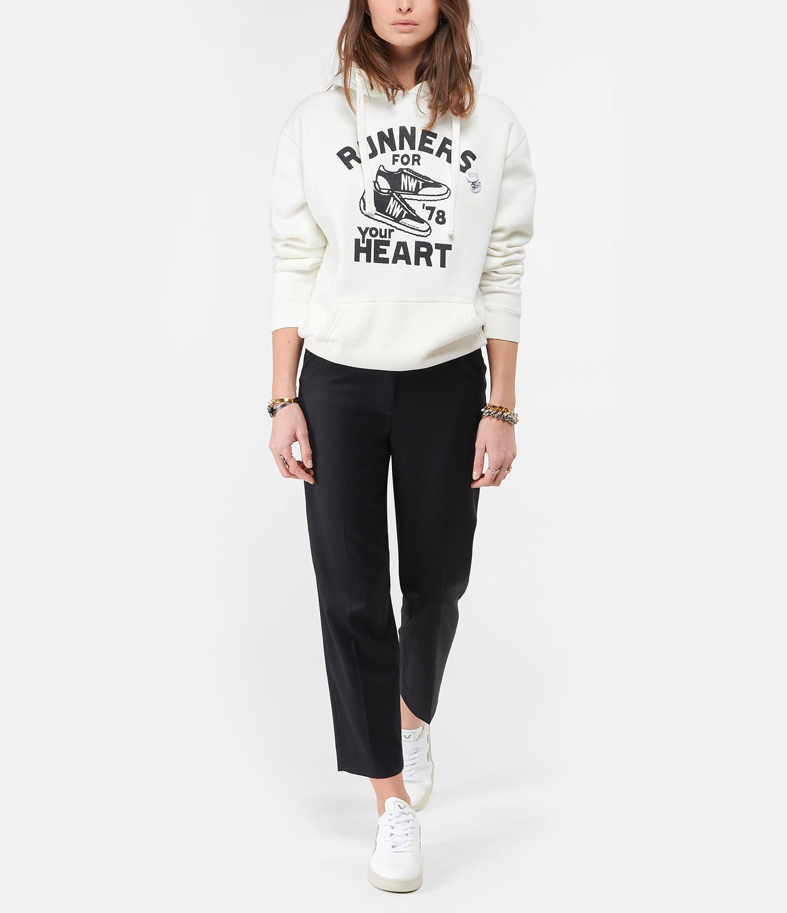 NEWTONE - Sweatshirt Hoodie Hearth Coton Écru
