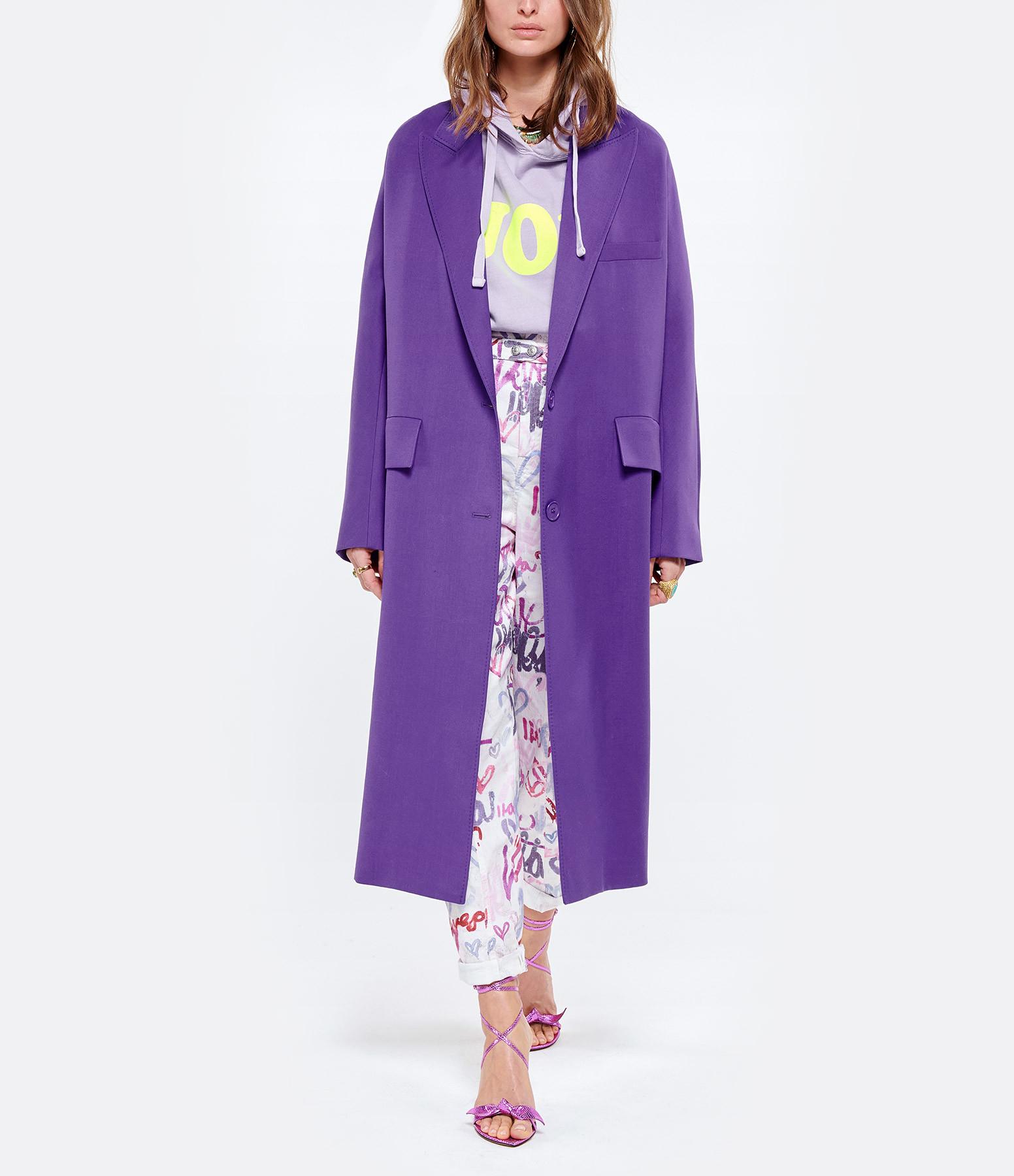 NEWTONE - Sweatshirt Hoodie Joy Coton Lilac