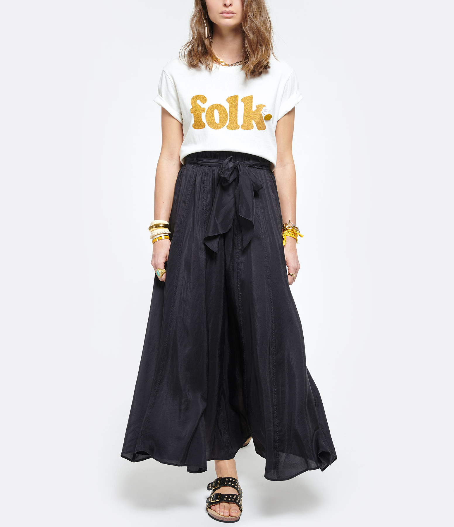 NEWTONE - Tee-shirt Starlight Folk Coton Écru