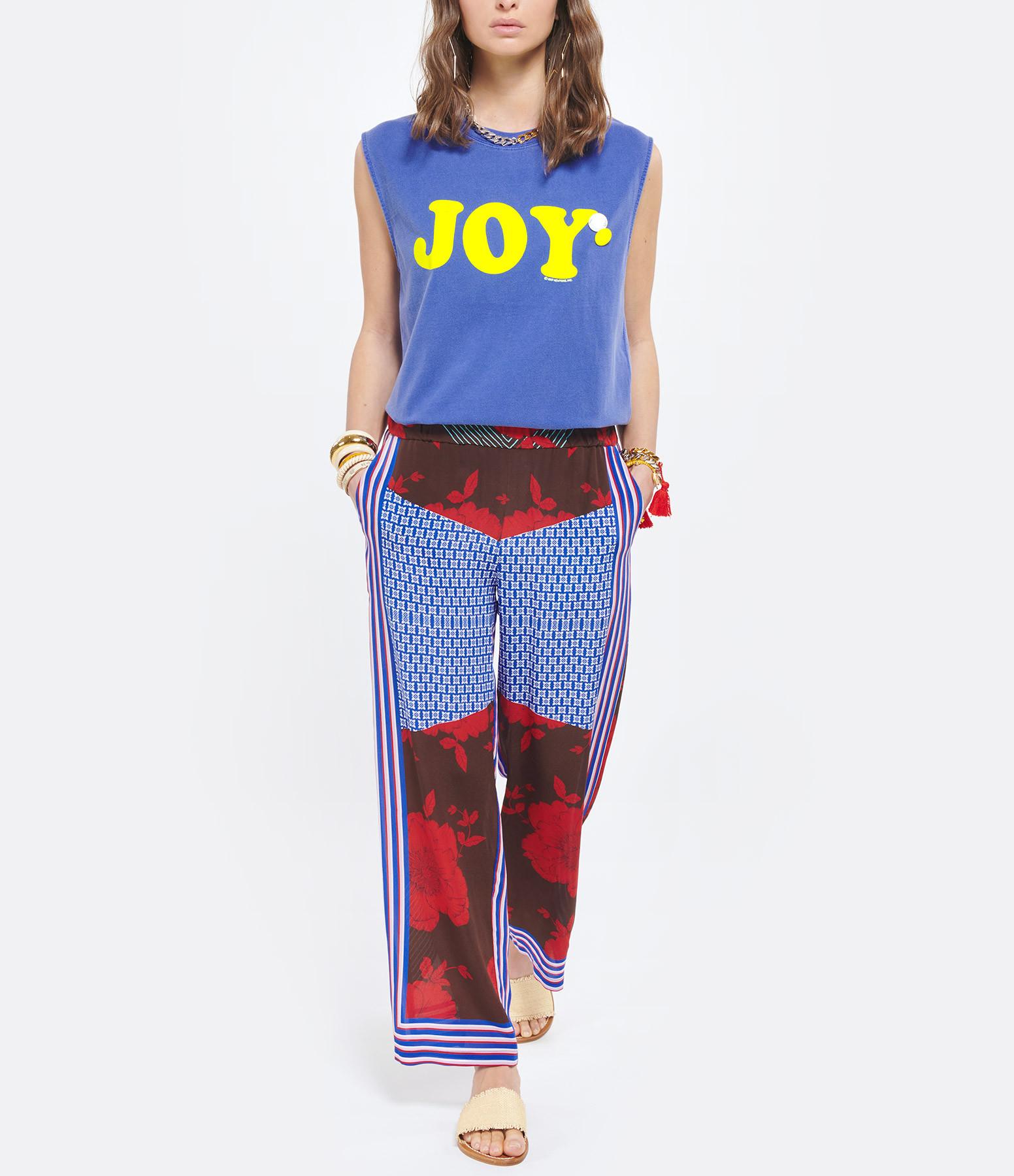 NEWTONE - Tee-shirt Biker Joy Coton Flo Bleu