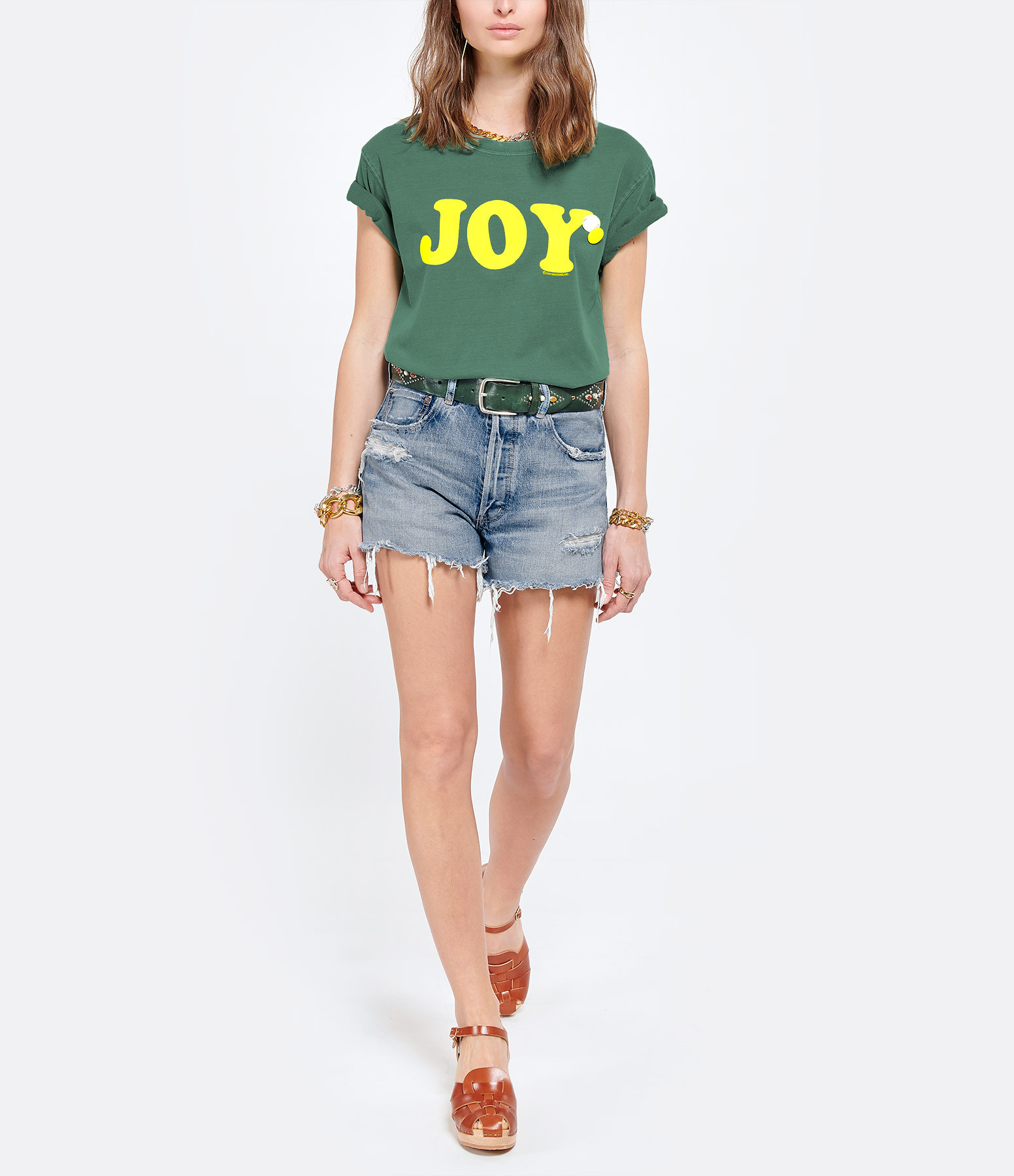 NEWTONE - Tee-shirt Trucker Joy Coton Vert Clair