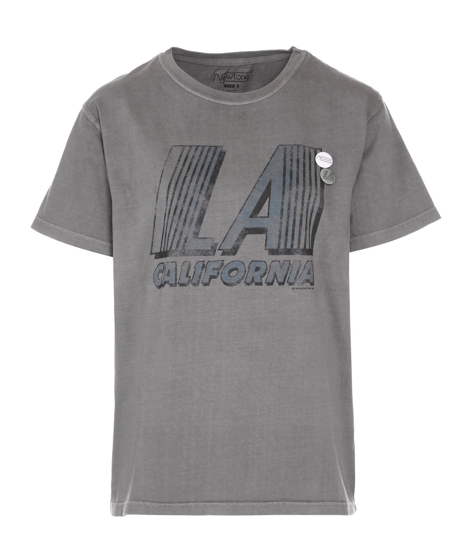 NEWTONE - Tee-shirt L.A Coton Gris