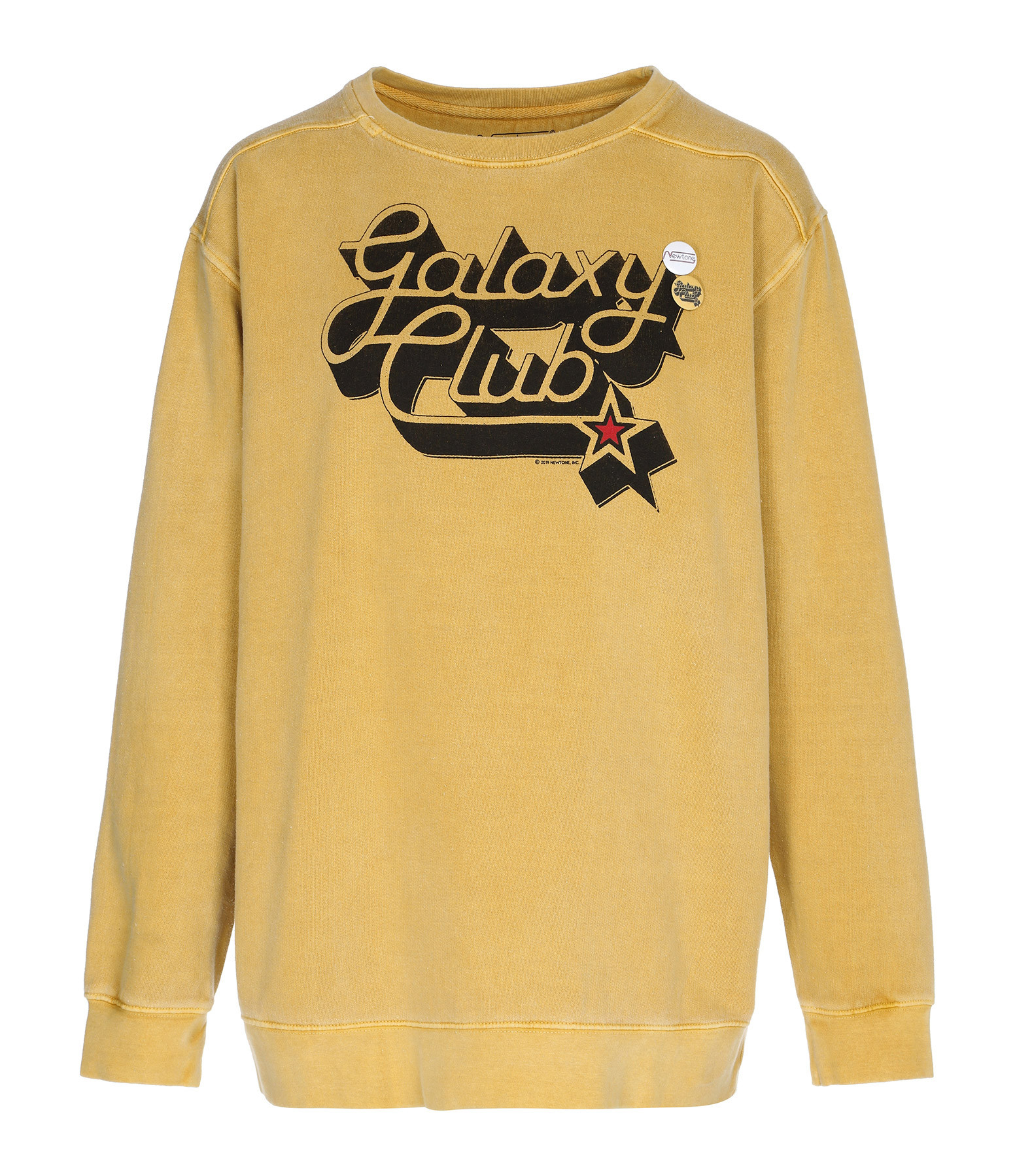 NEWTONE - Sweatshirt Galaxy Club Coton Moutarde