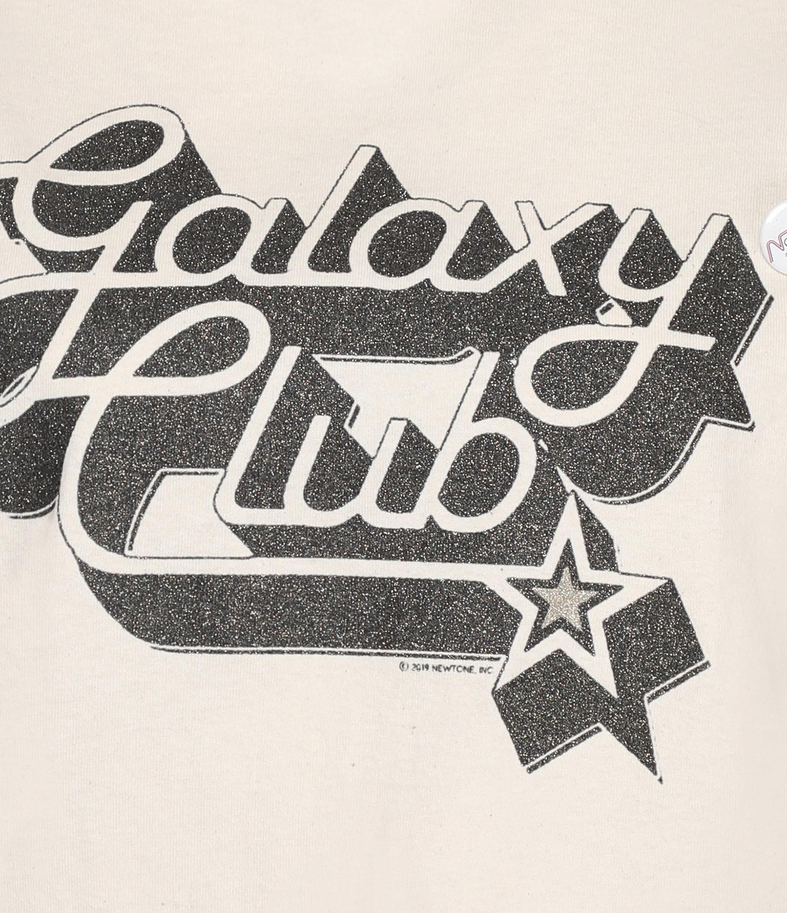 NEWTONE - Tee-shirt Galaxy Club Naturel Edition Limitée Glitters