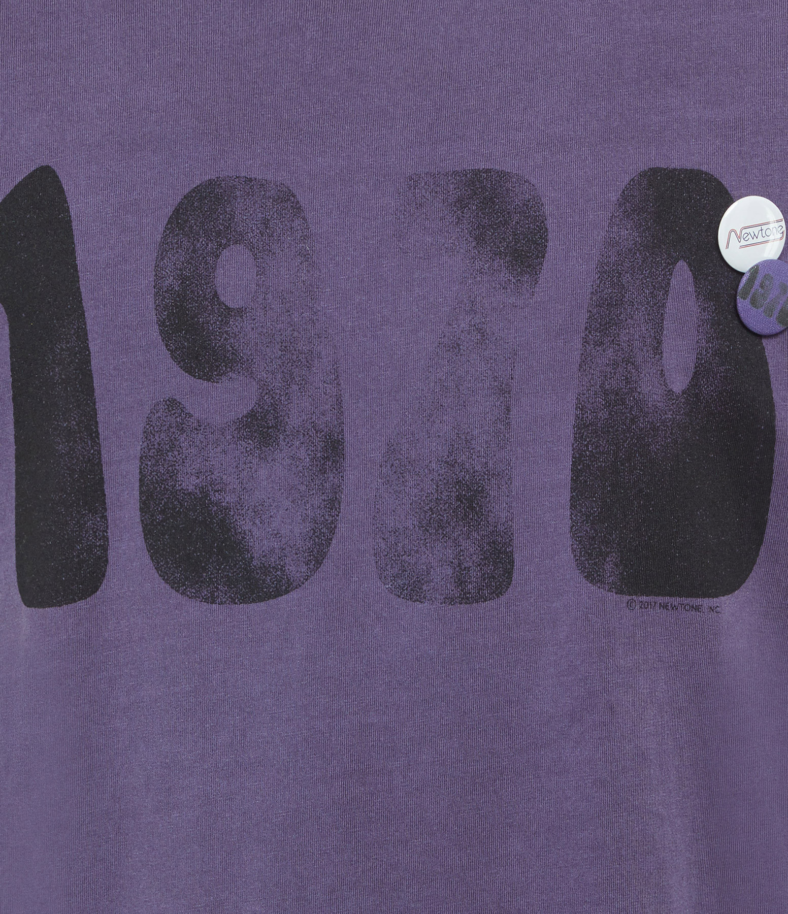 NEWTONE - Tee-shirt 1970 Coton Violet Grappe