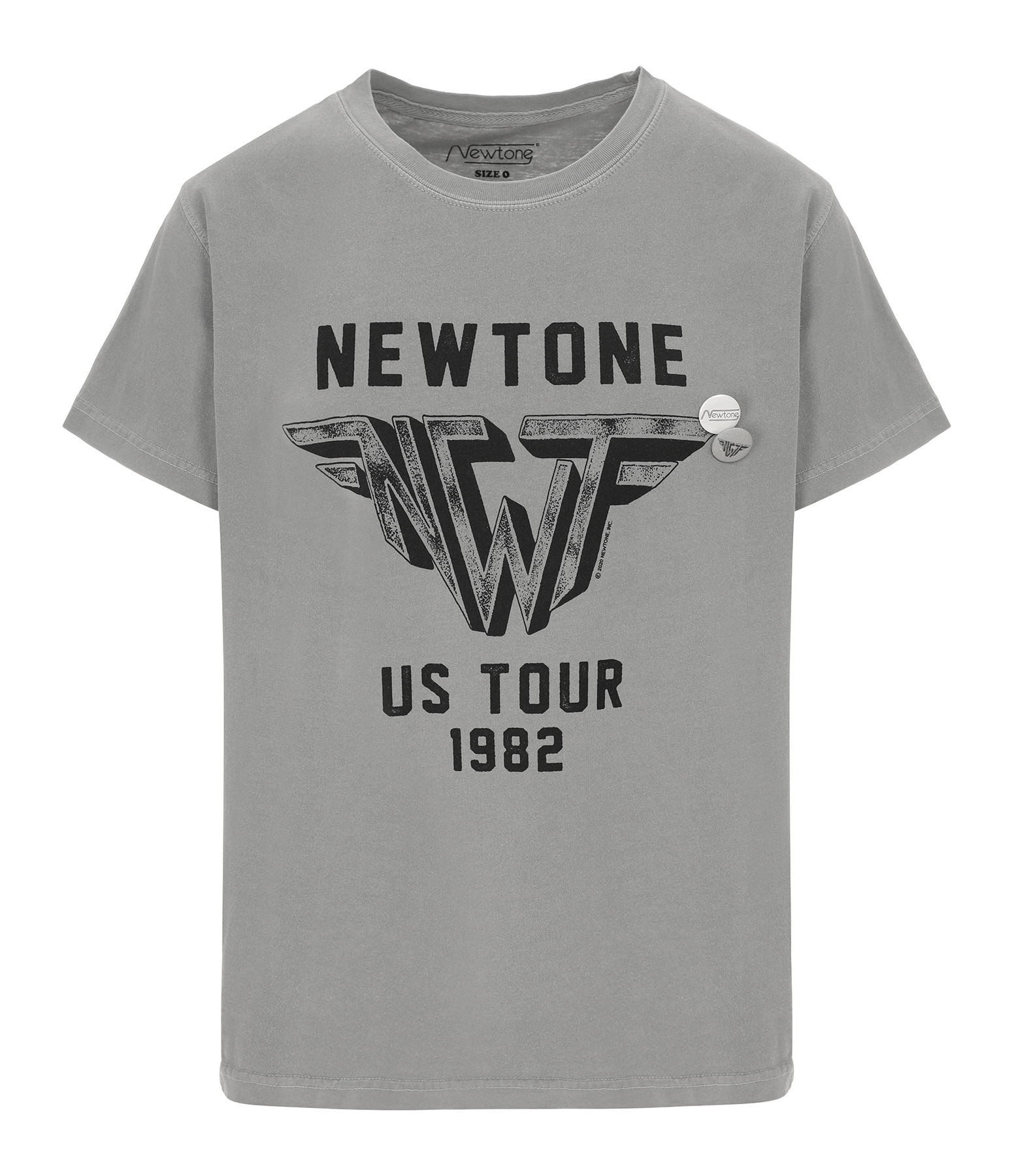 NEWTONE - Tee-shirt Wings Coton Gris