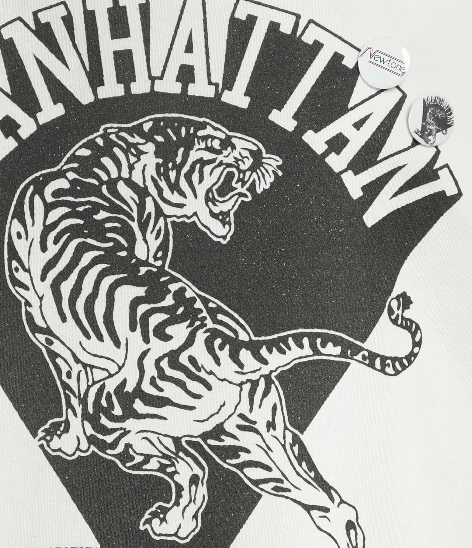 NEWTONE - Tee-shirt Biker Manhattan Coton Blanc