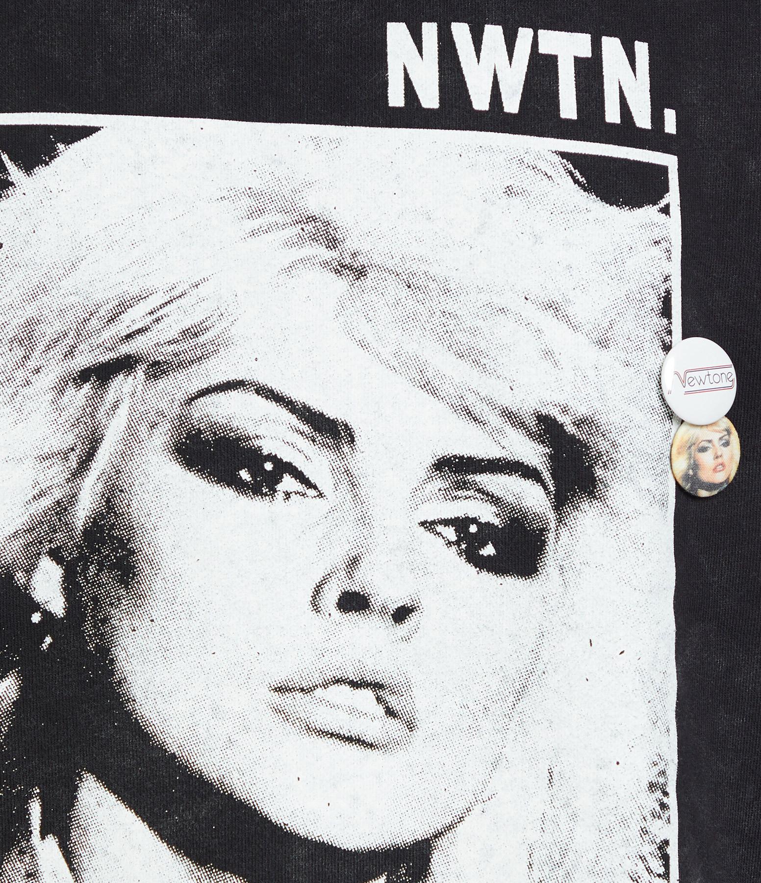 NEWTONE - Sweatshirt Roller Boulevard Coton Noir